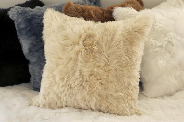 Suri and Hua fur pillows