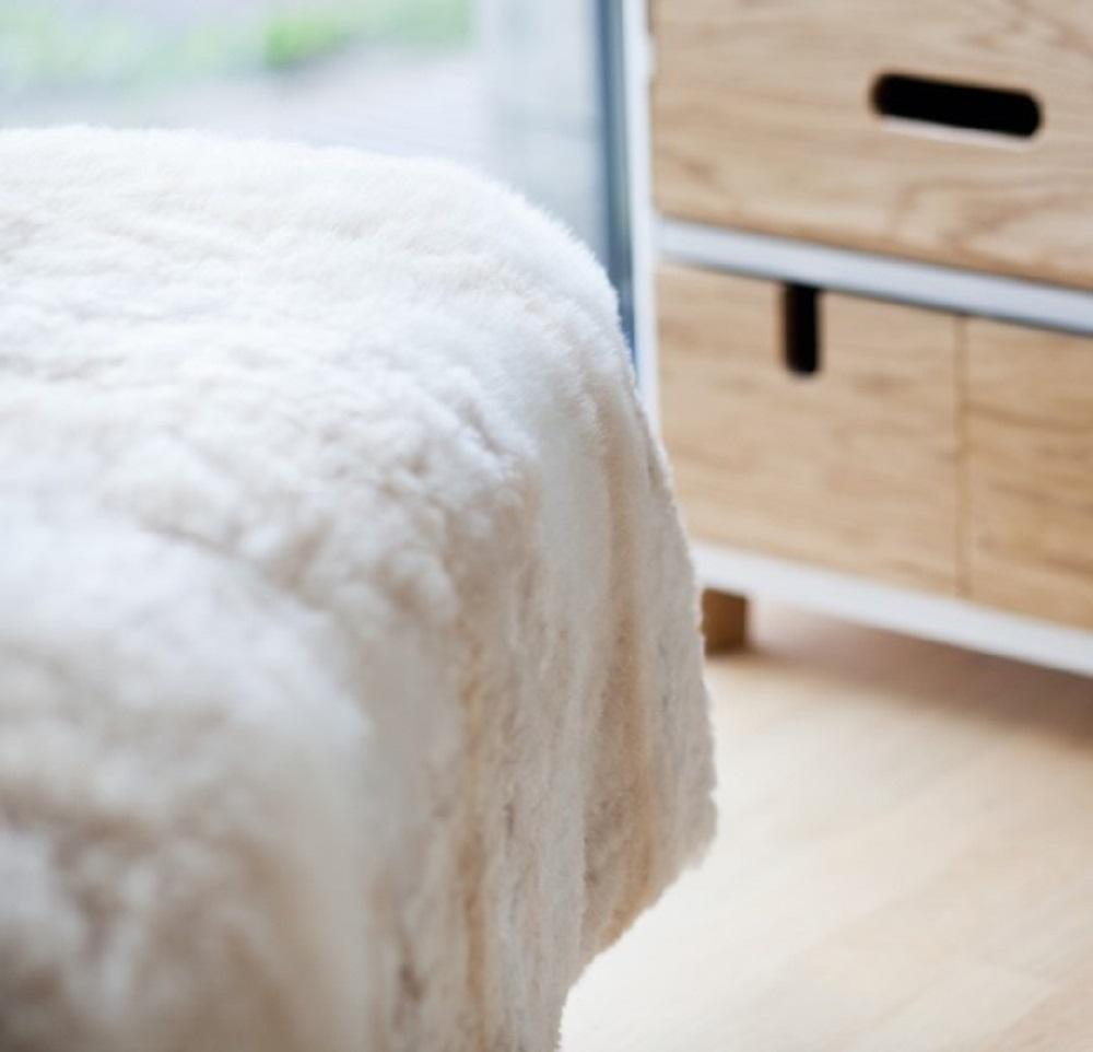 Hua fur throw, fur comforter