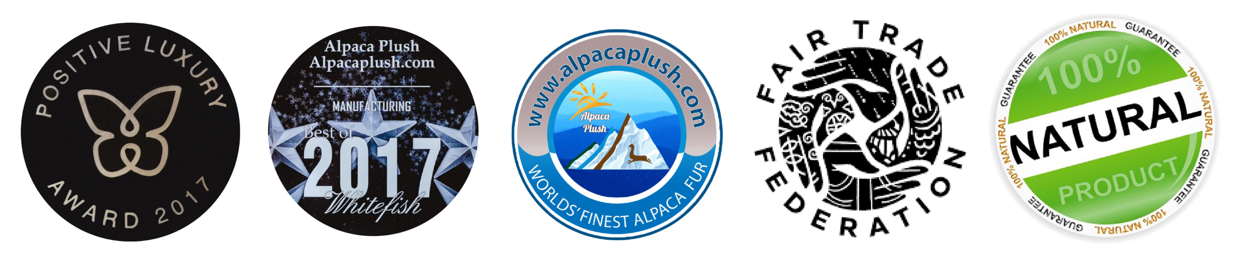 Alpaca Plush Awards and Badges