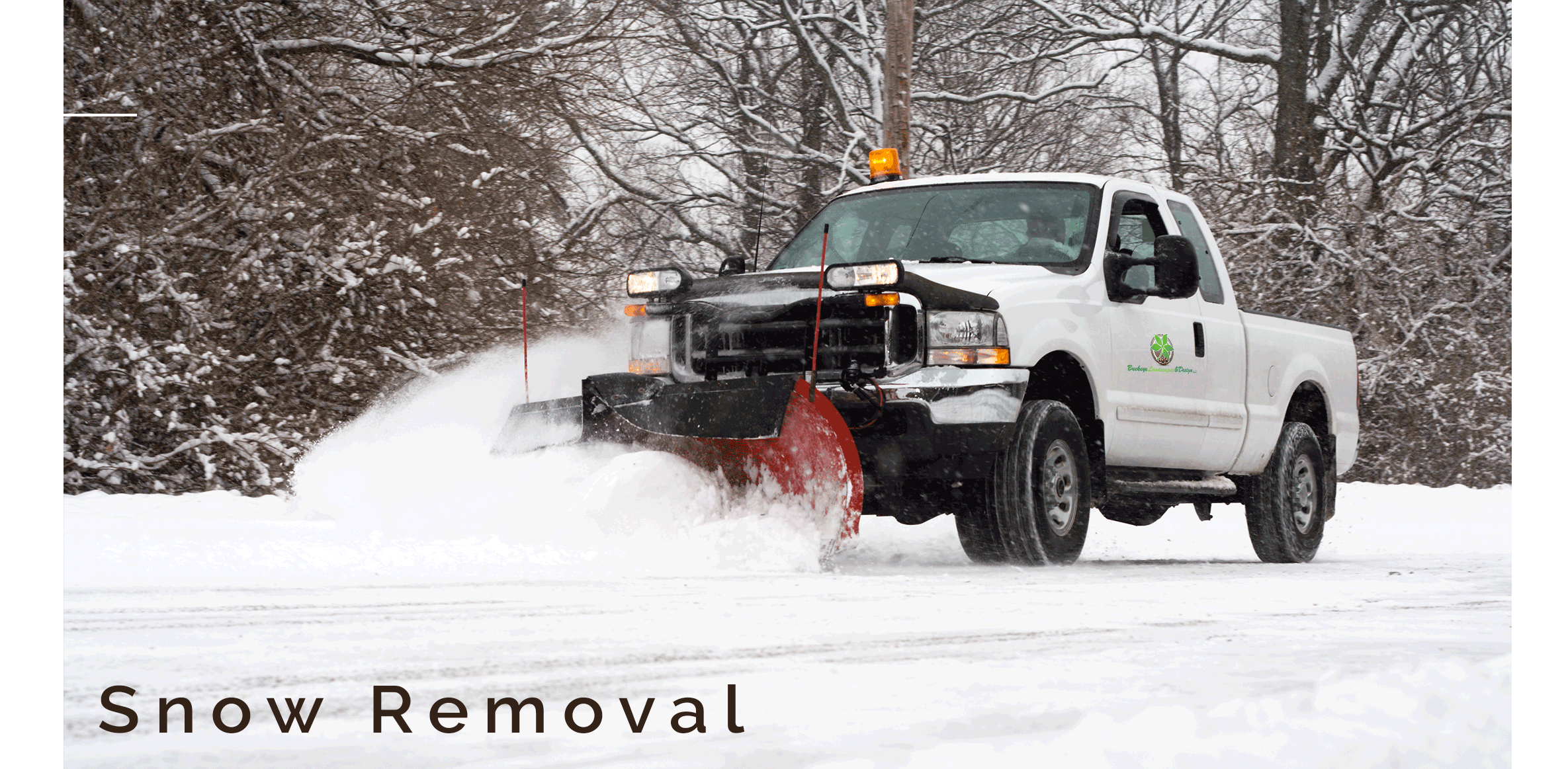 Snow Removal by Buckeye Landscapes and Design