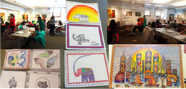 IAL brings Madhubani Folk Art workshop to Cary Memorial Library