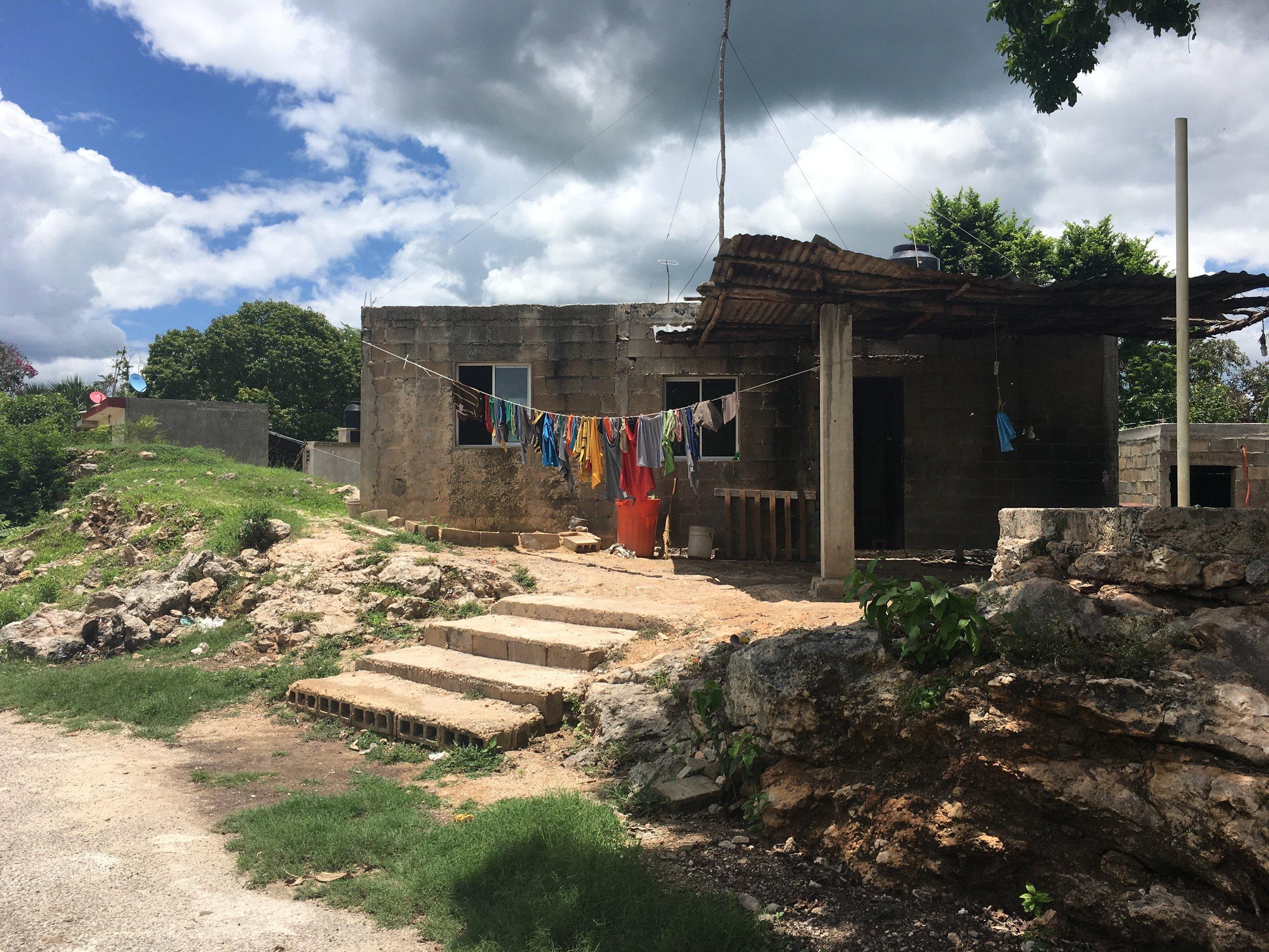 Üks kodu Mehhikos Sanhcati külas