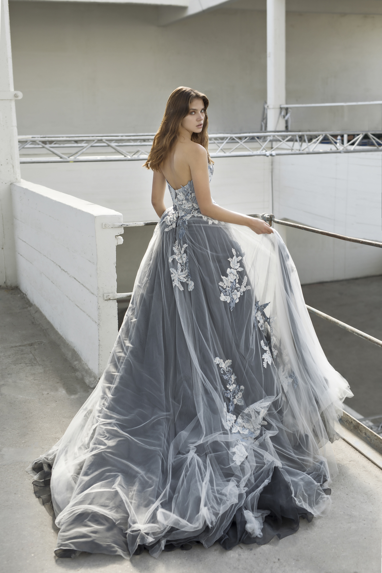 April 24th - Esmee by Modeca, a stunning black, blue and ivory wedding dress is arriving to our Surrey bridal shop in May 2019. Excited is an understatement!