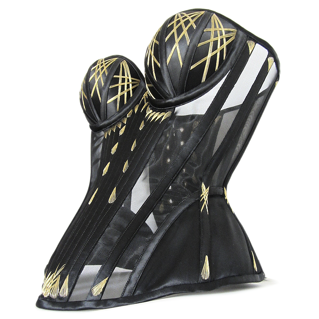 Patterning + structure allow this corset to standalone and maintain its shape