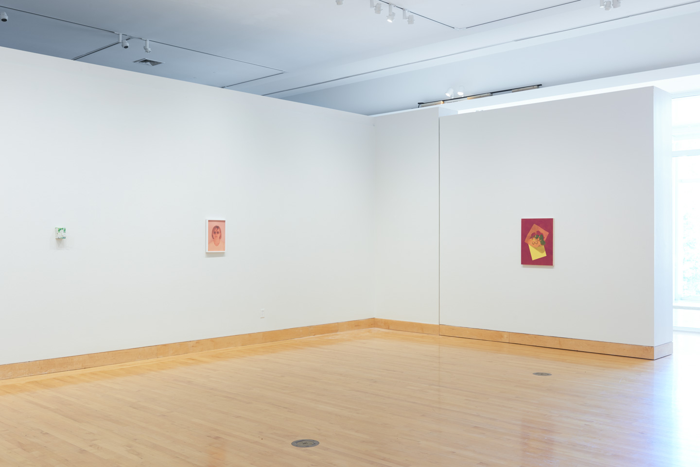 Painting at far right:   Which Are Her Sisters   (2018). Sculpture by Lina Viste Grønli. Photography by Josh Shaddock.