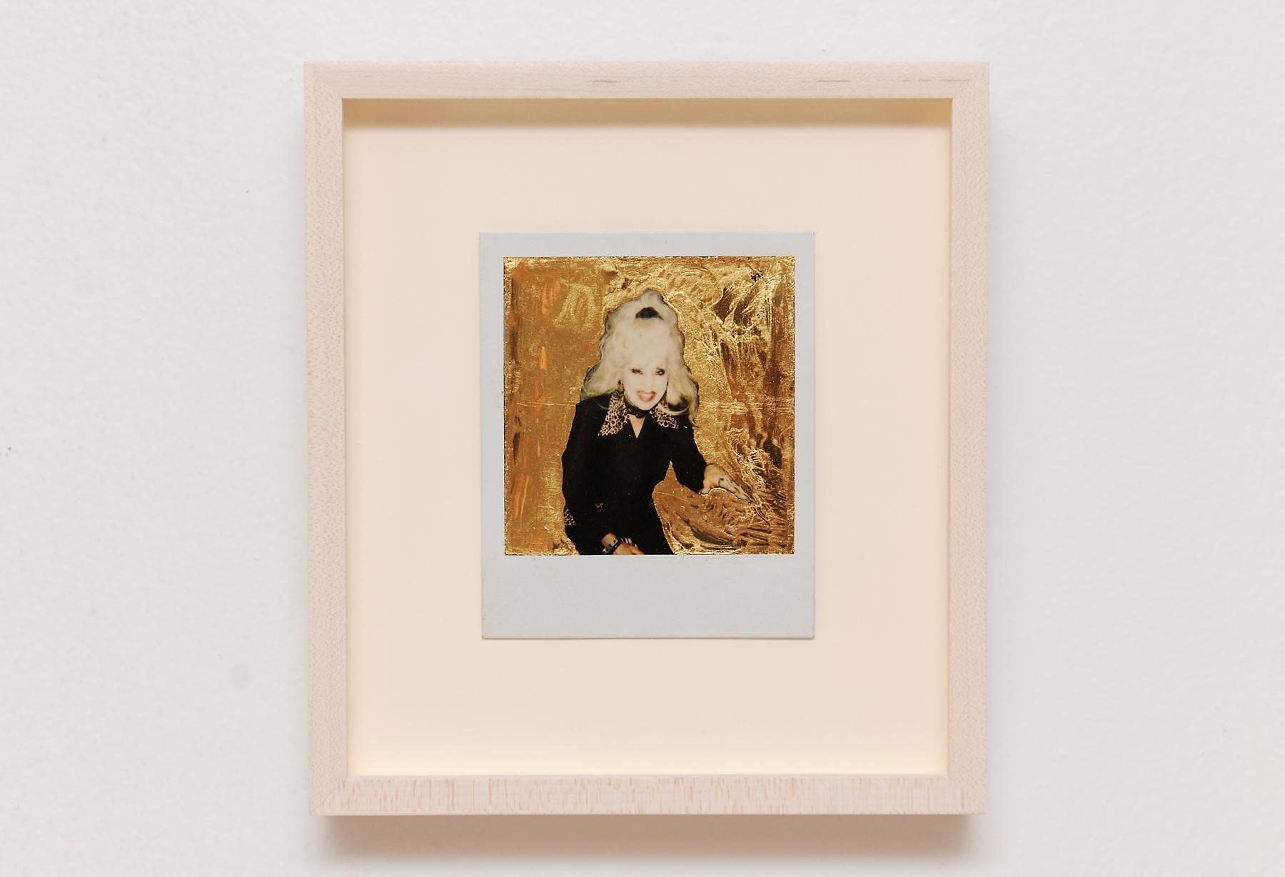 Golden Vivian I, Polaroid, Gold Leaf