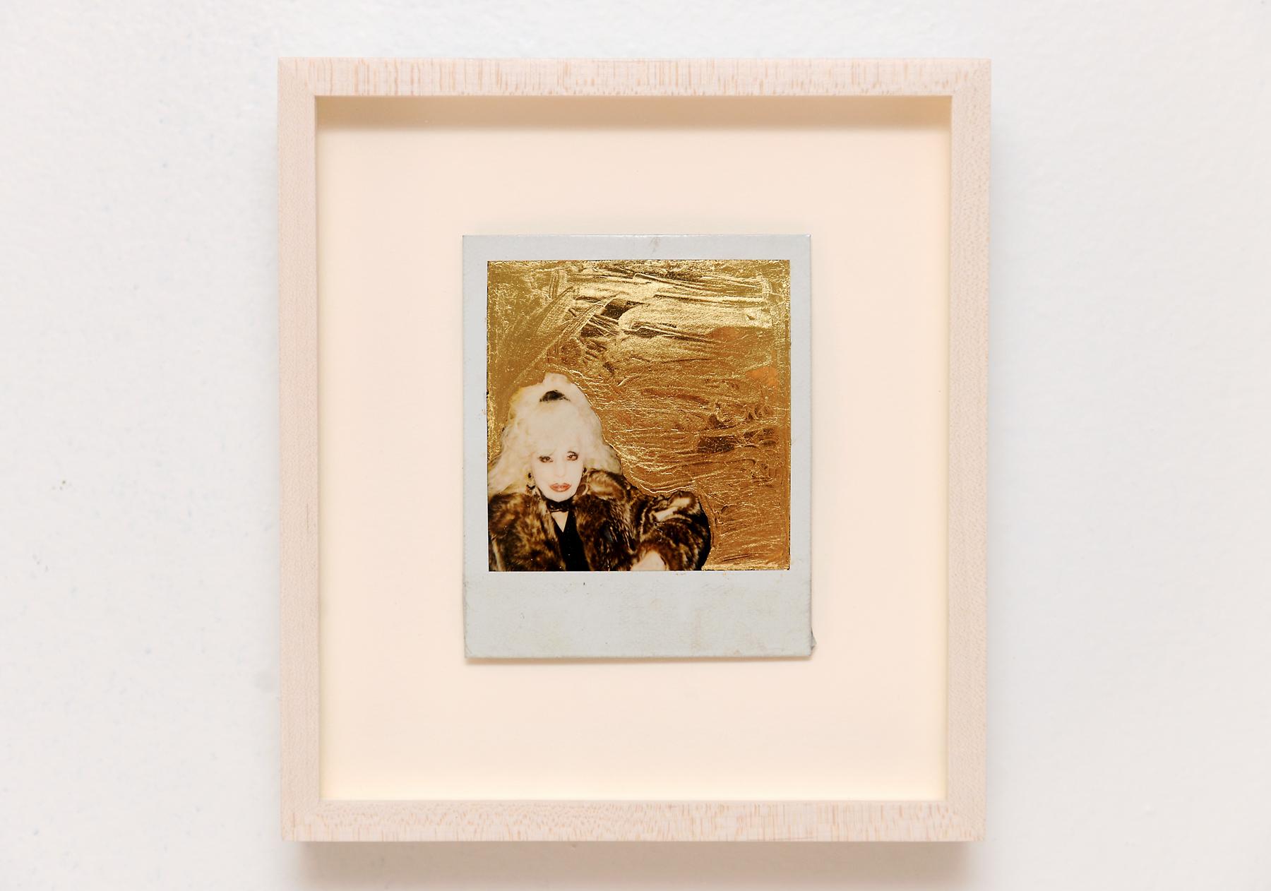 Golden Vivian II , Polaroid, Gold Leaf