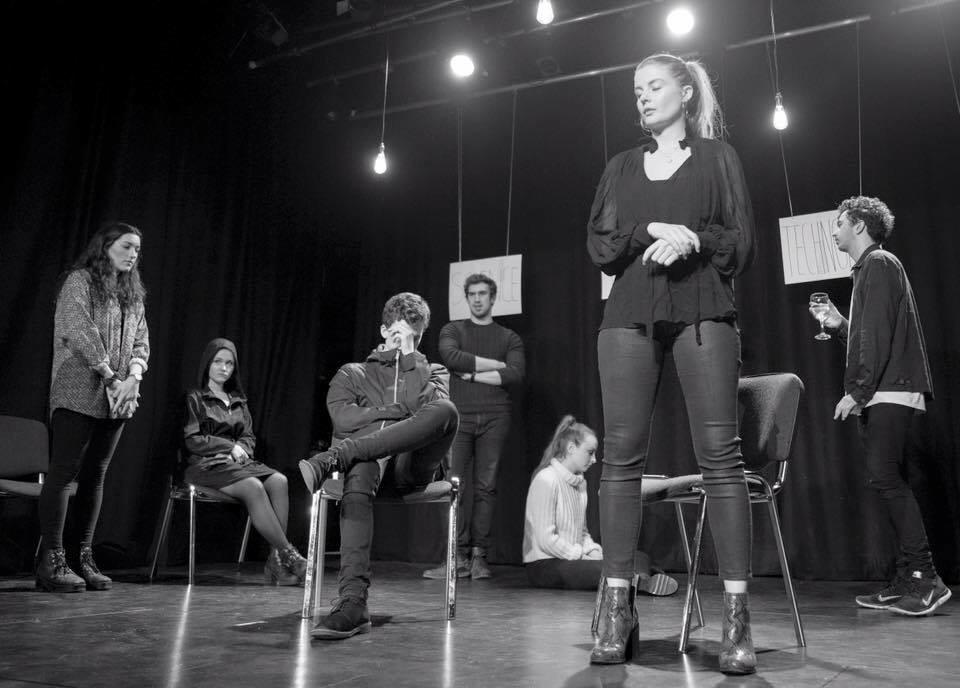 (Left to right): Mal El-Gonomy, Mo Hocken, Joseph Callaghan, Louis Dunbavin, Evie Wilson, Lily Hall, Will Sidi.