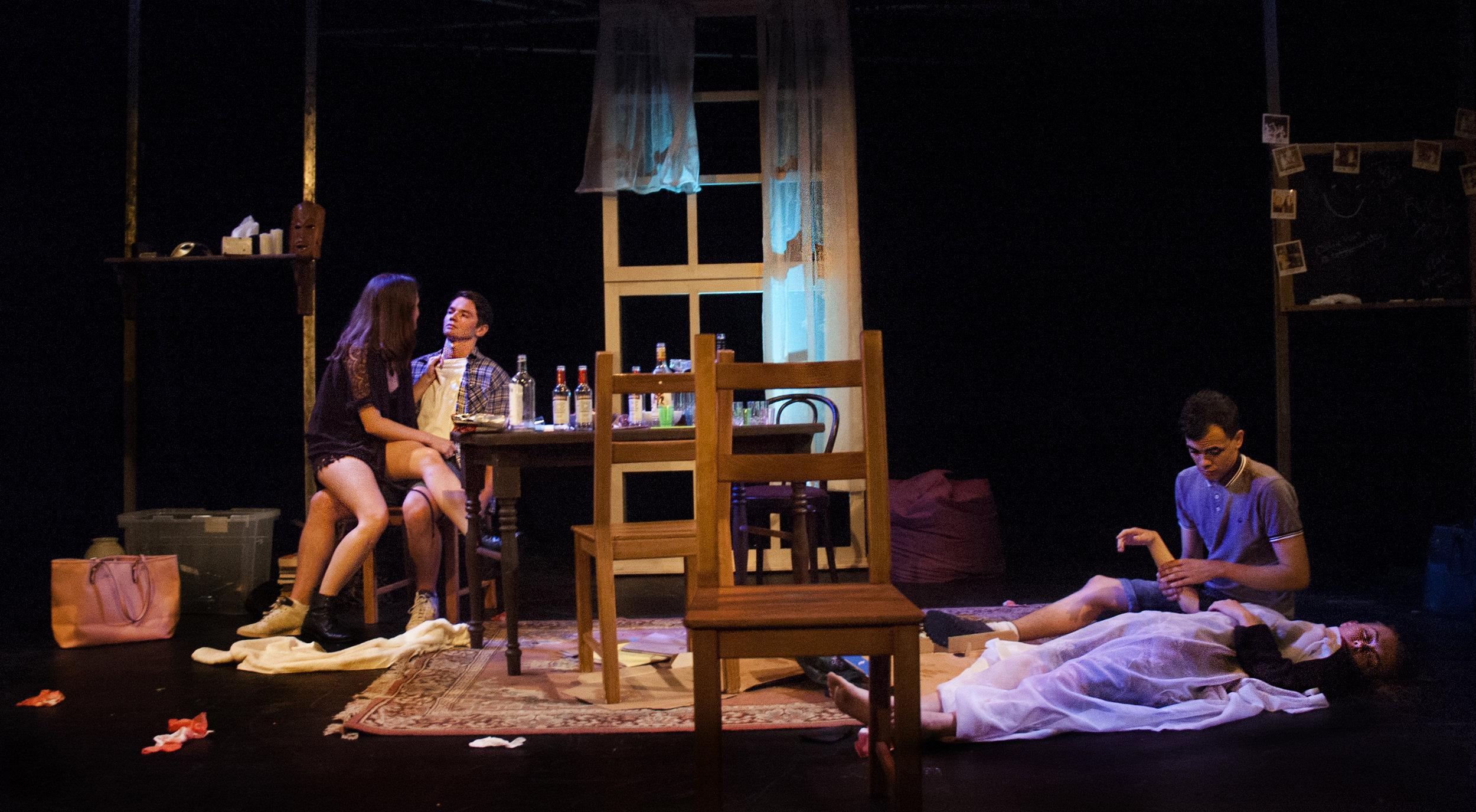 Jennie Eggleton (Carrie), George John (Christian), Kathryn Crosby (Laura) and Aaron Douglas (Ollie)