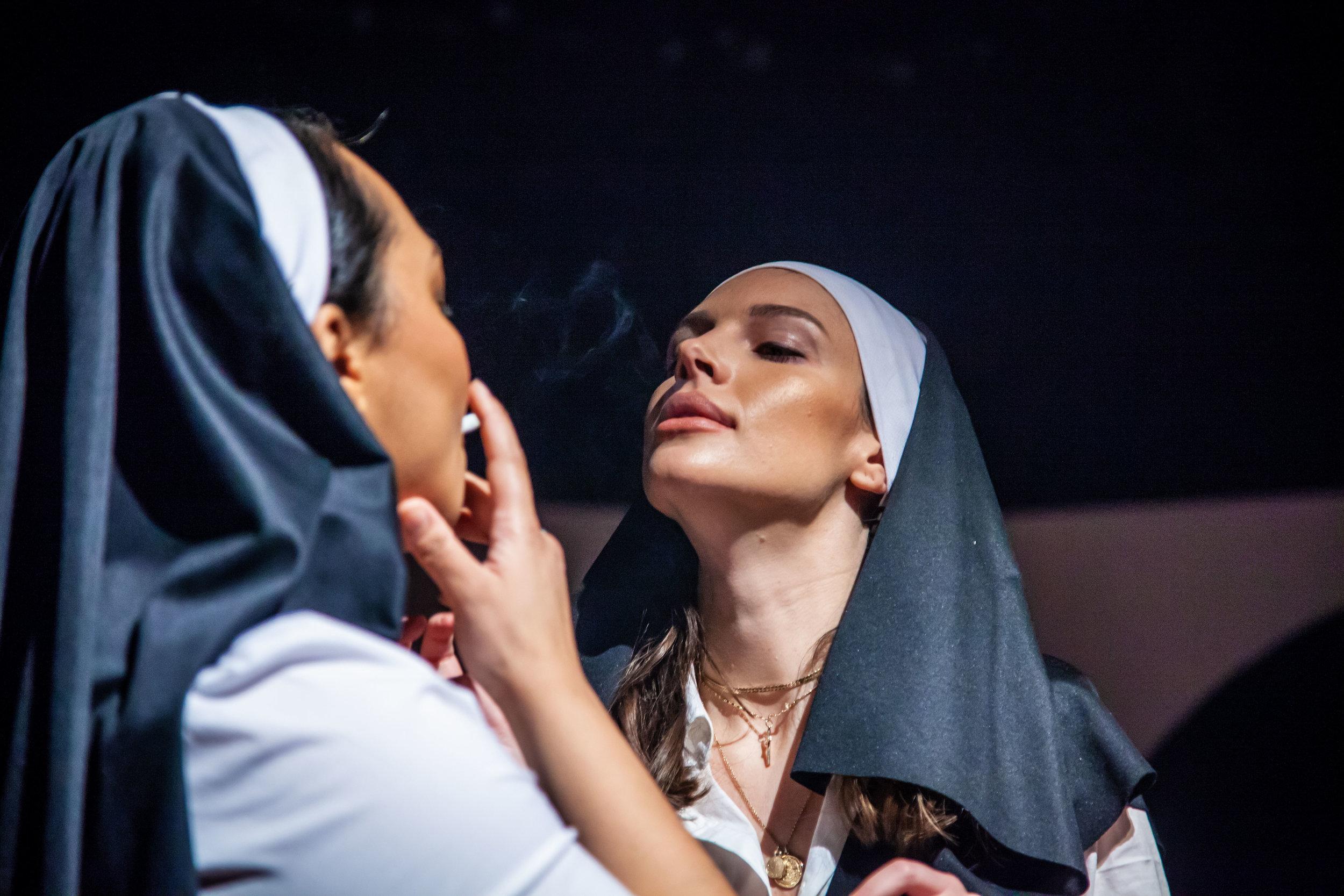 Sister Rozza (Rebecca Wilson) and Sister Catherine (Natalya Wolfer-Ferguson)