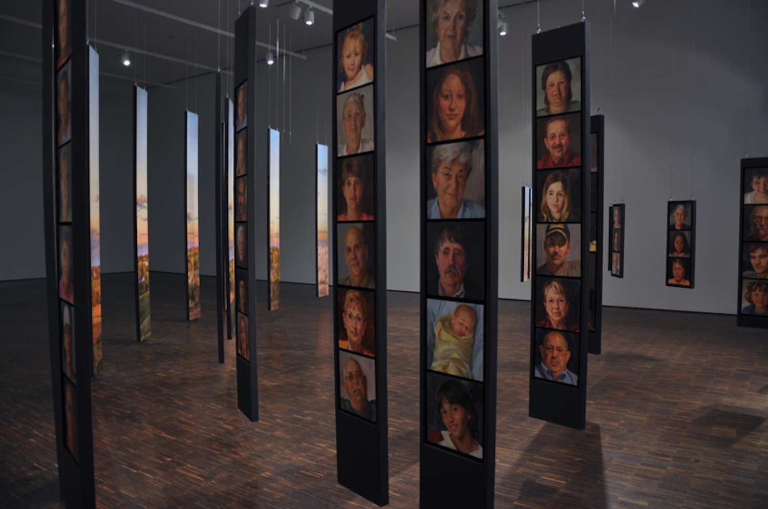 Portrait of Maquoketa: The Dimensional View art exhibition at the Figge Art Museum.