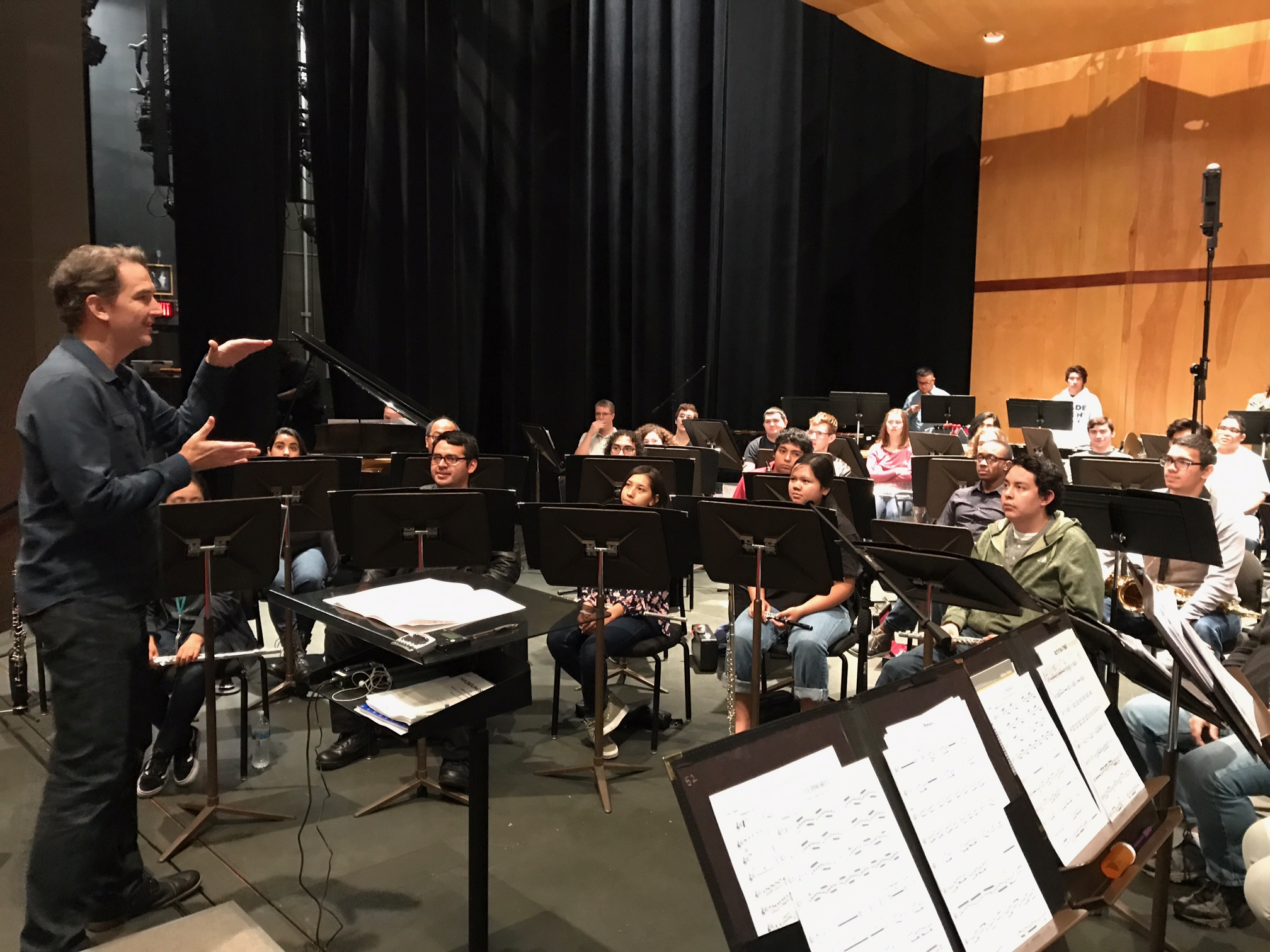 In rehearsal with the Mt. San Antonio College Wind Ensemble.