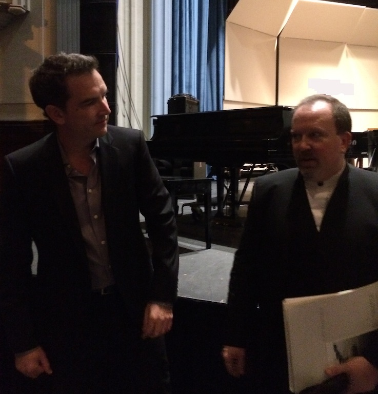 with conductor Dr. Scott Lubaroff after the premiere of Where Rivers Bend and So Simple