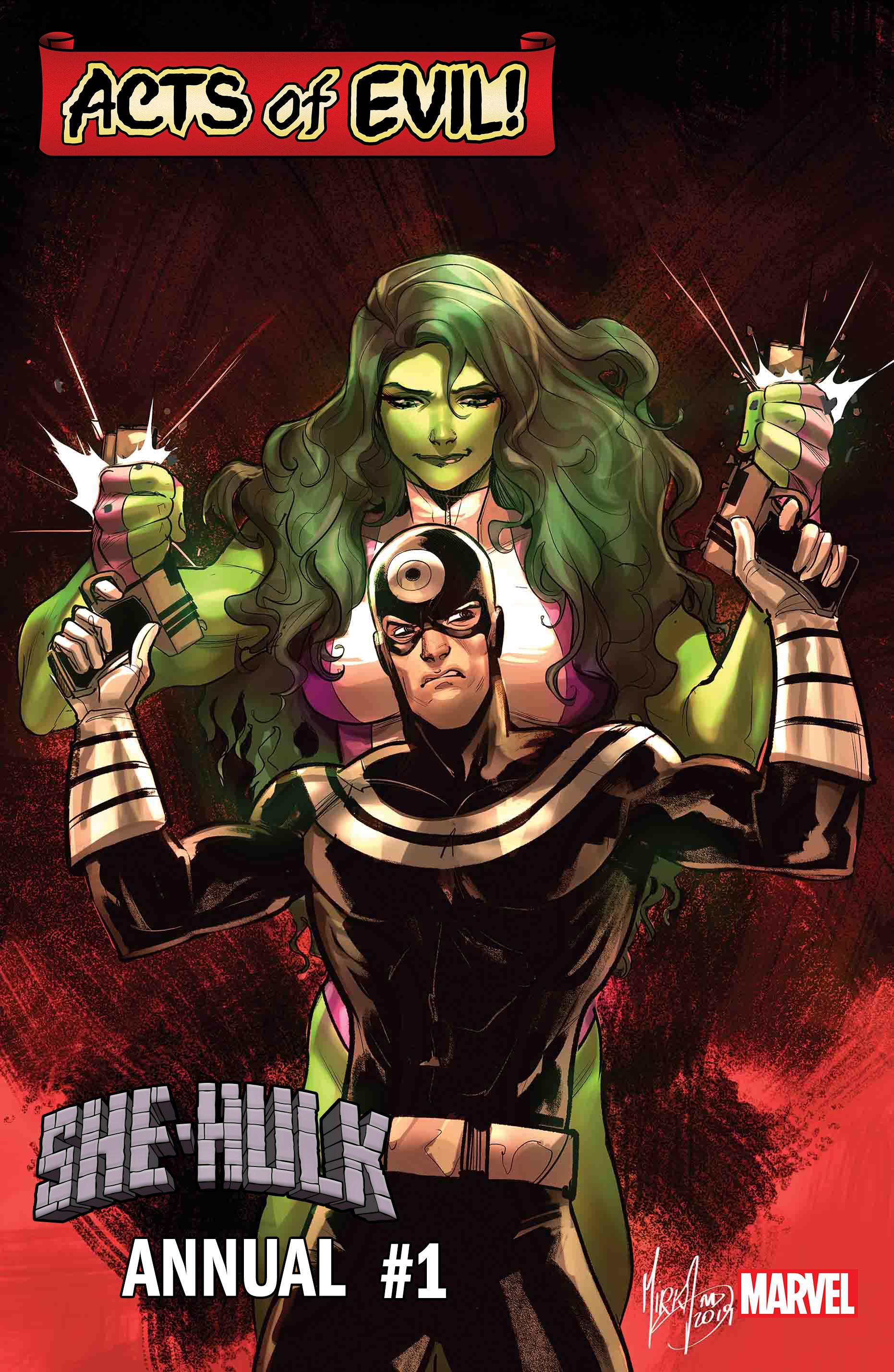 She-Hulk Annual #1: She-Hulk vs. Bullseye cover