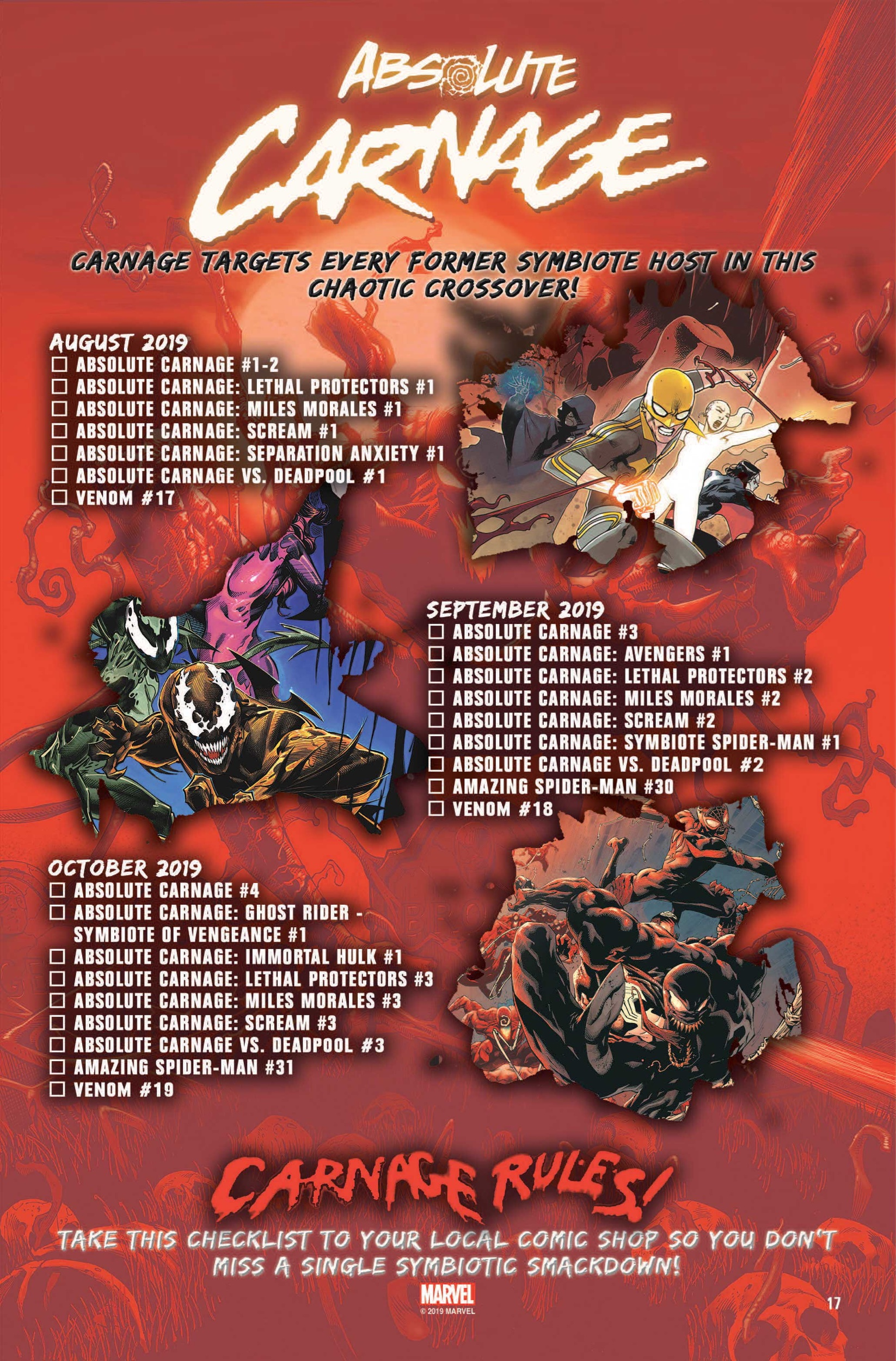 Absolute Carnage checklist