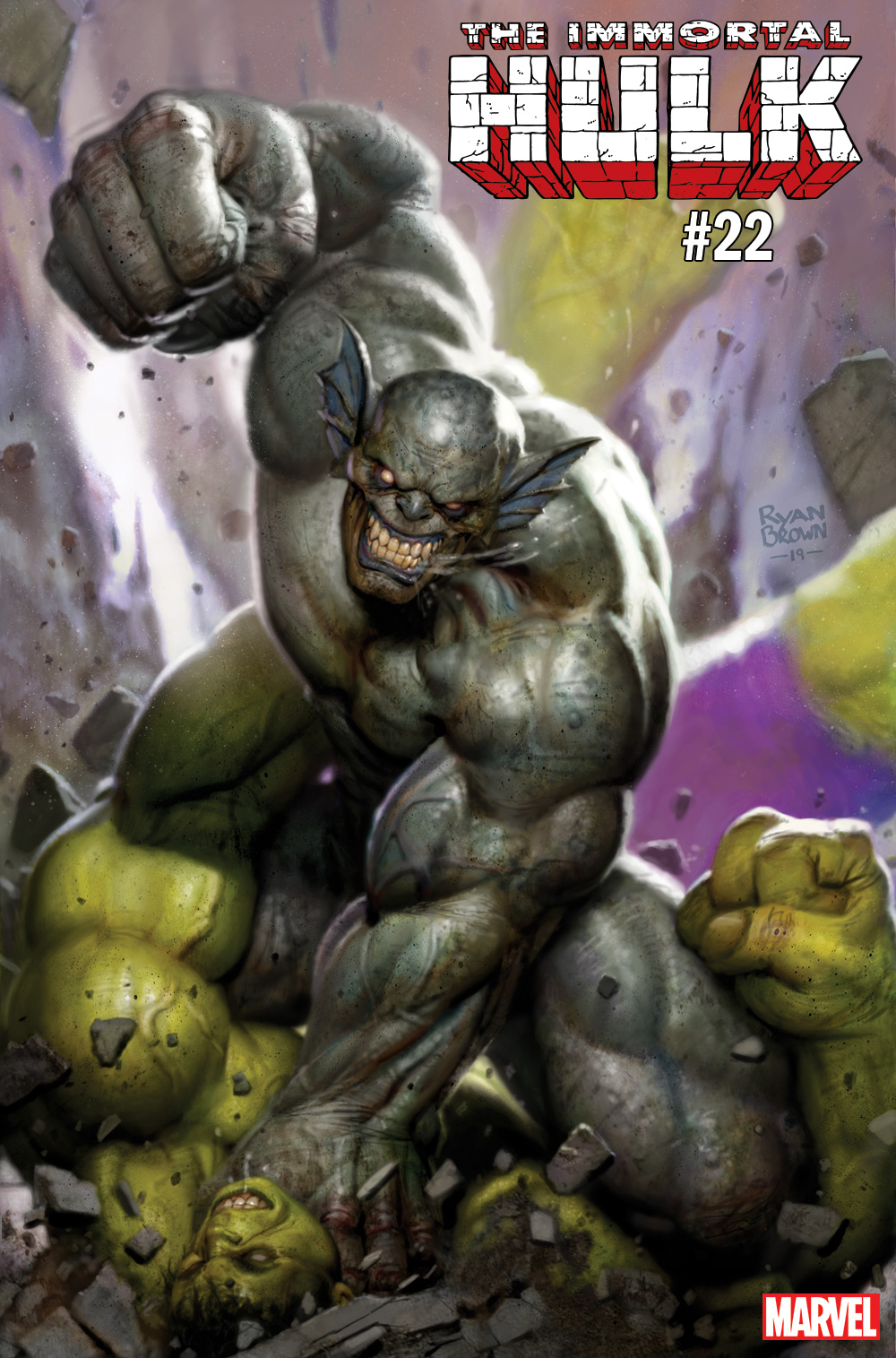 Immortal Hulk #22 cover ft. Abomination