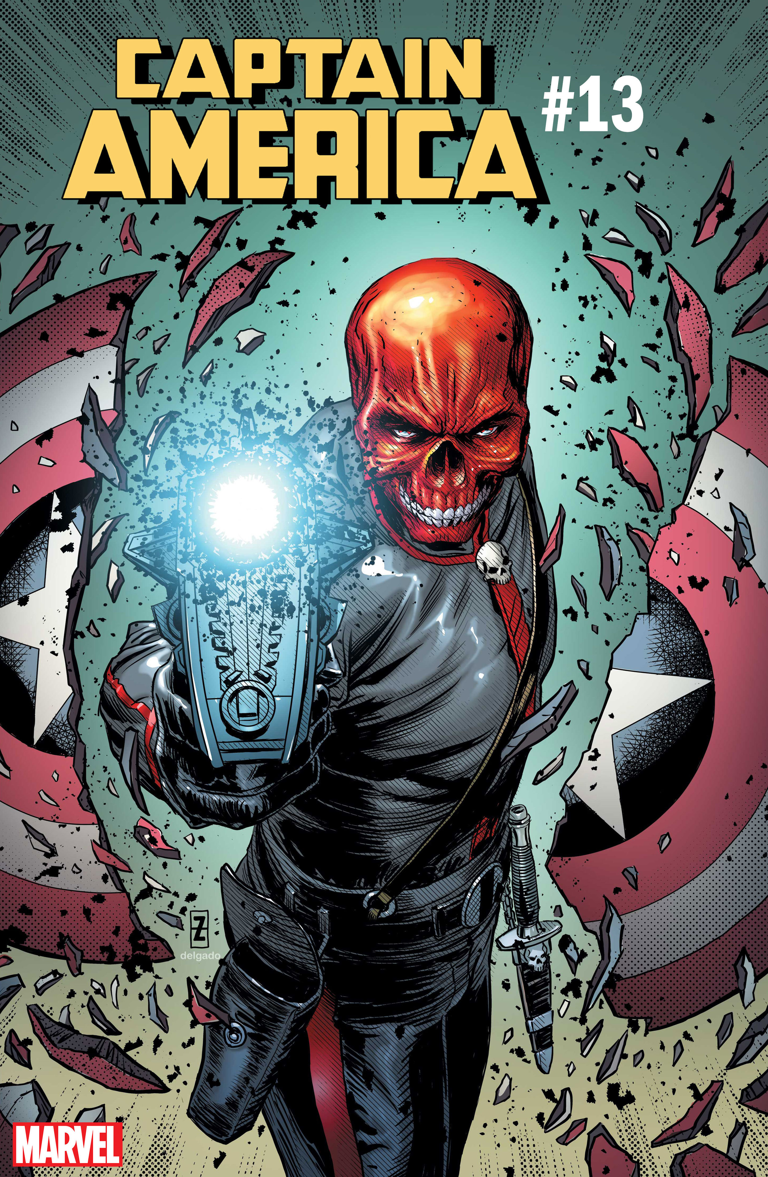 Captain America #13 cover ft. Red Skull