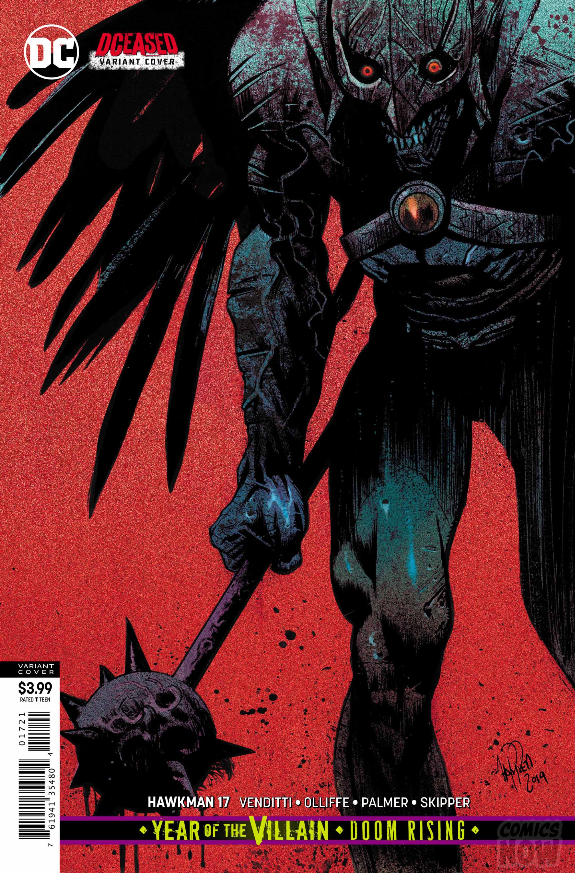 Hawkman #17 variant cover