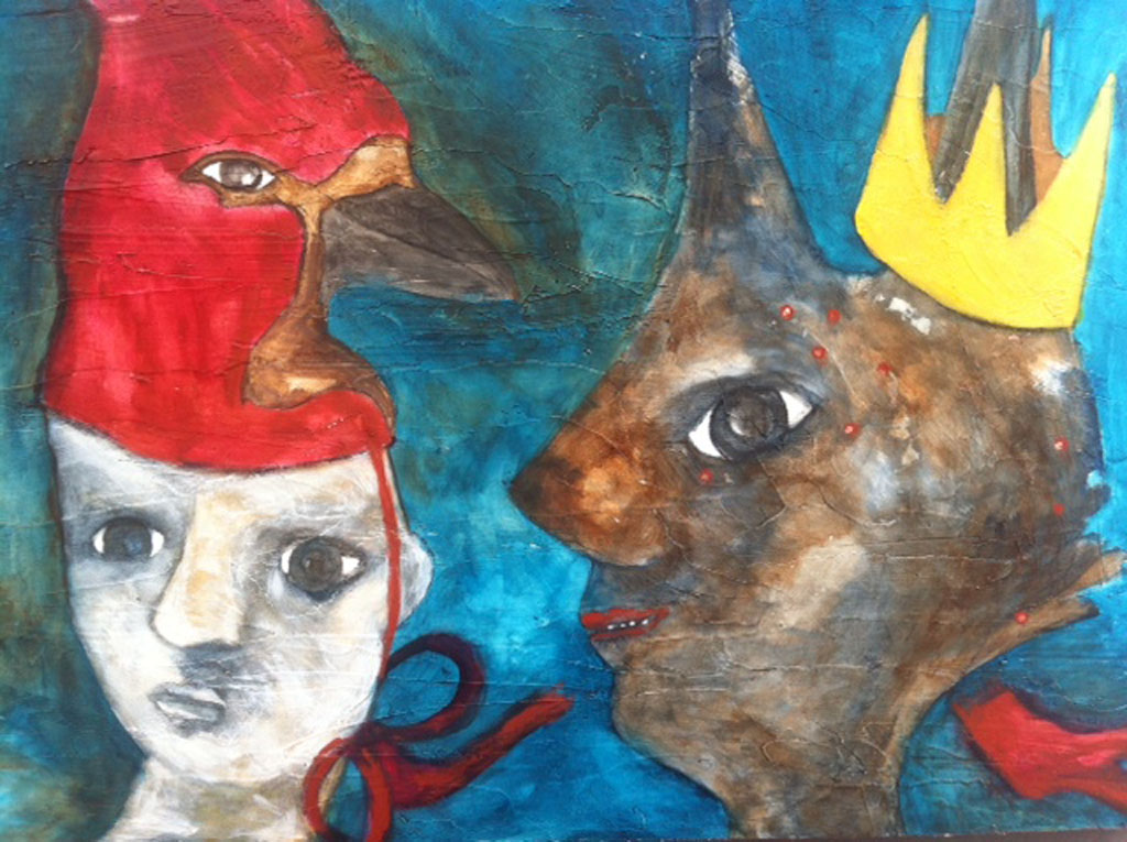 """""""Won't You be my Queen""""  oil on board 23"""" x 35"""""""