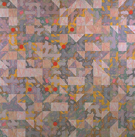 "Negentropy 64"" x 64"" oil on canvas 1981"