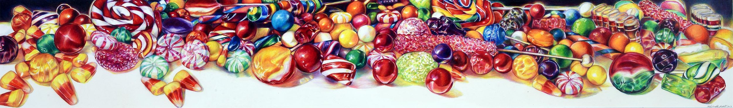 """""""Candy Field""""  prismacolor on paper  SOLD"""