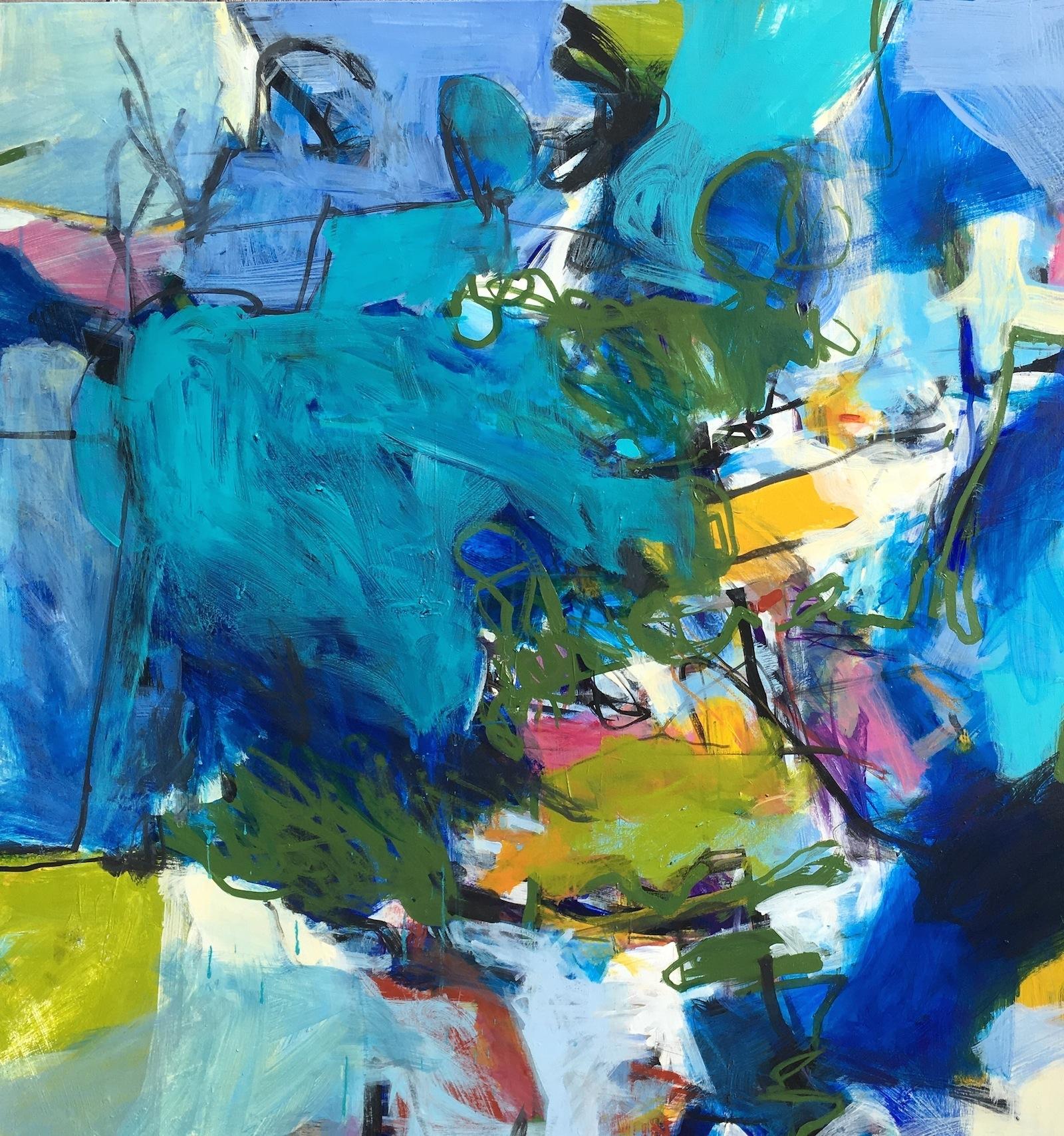 """""""Bluebonnet""""  acrylic on canvas  40 x 38"""""""