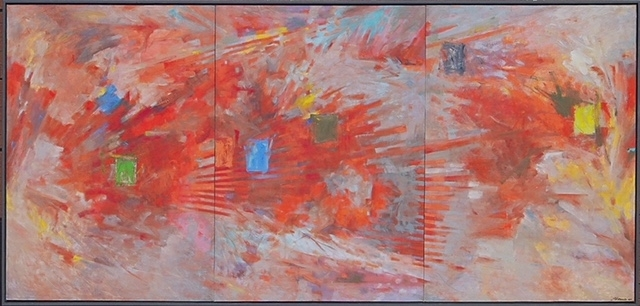 """""""Red Shift"""" 60"""" x 120""""   2007, Oil on Canvas"""