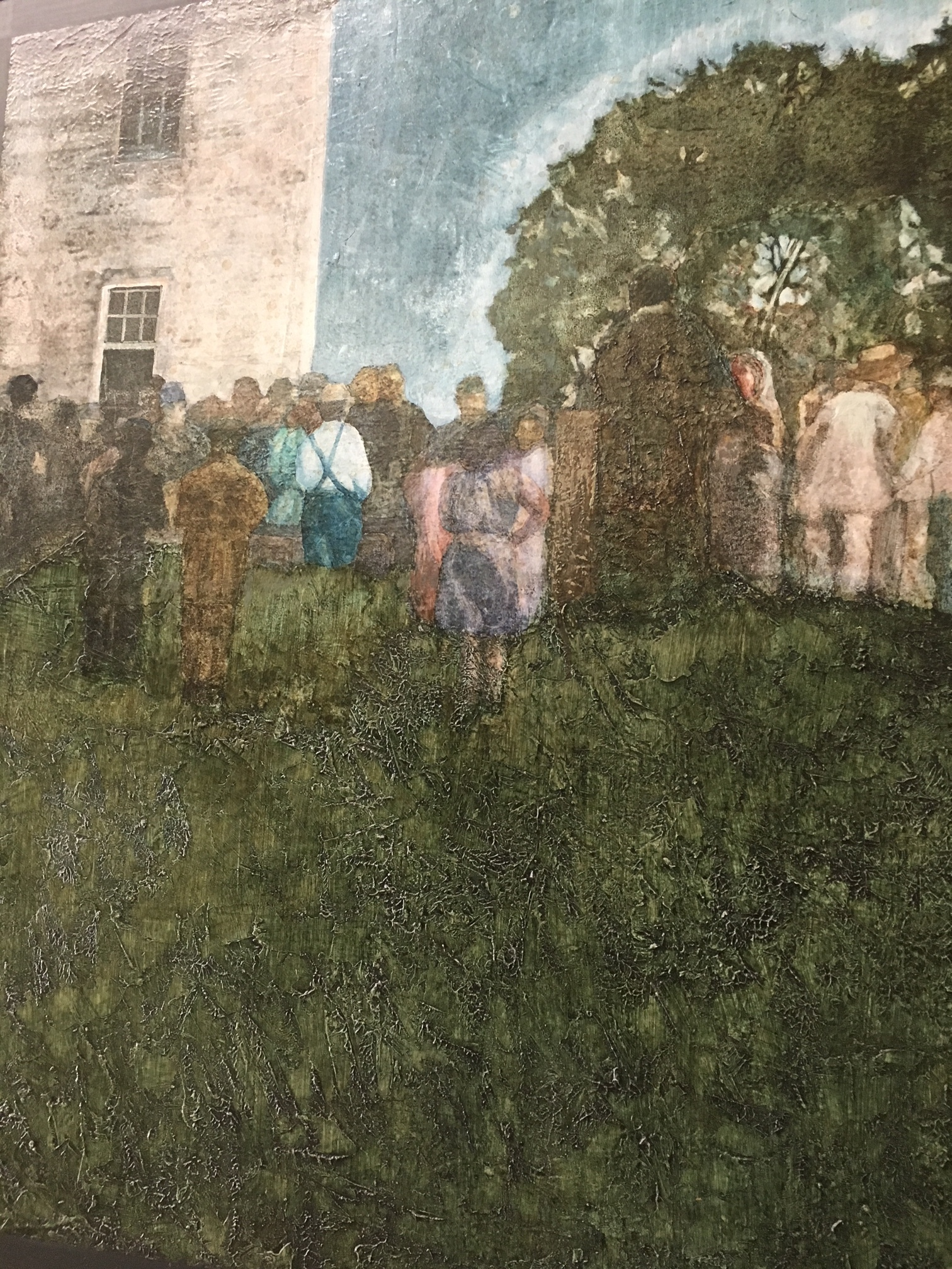 """""""The Country Wedding"""" by Frank Sampson acrylic on canvas"""