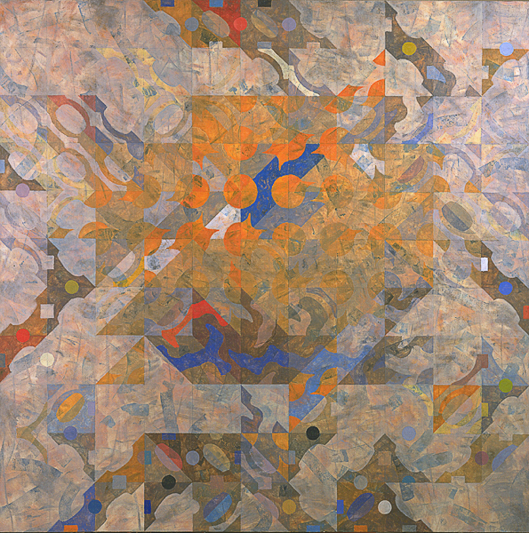 """""""Chronos""""  1981  oil on canvas  66"""" x 66"""""""