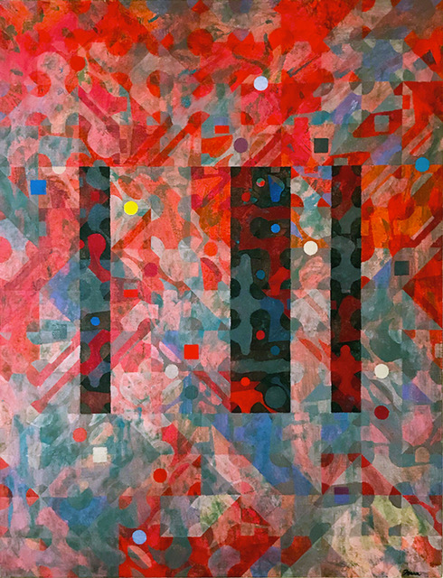 "KM Shift  oil on canvas  56"" x 44"""