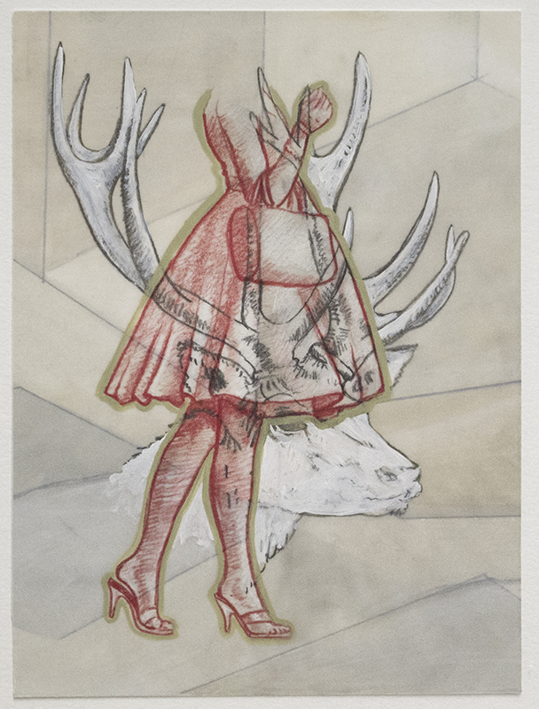 Drawing  Conte, Charcoal, Gouache, Acrylic, wax pencil on paper