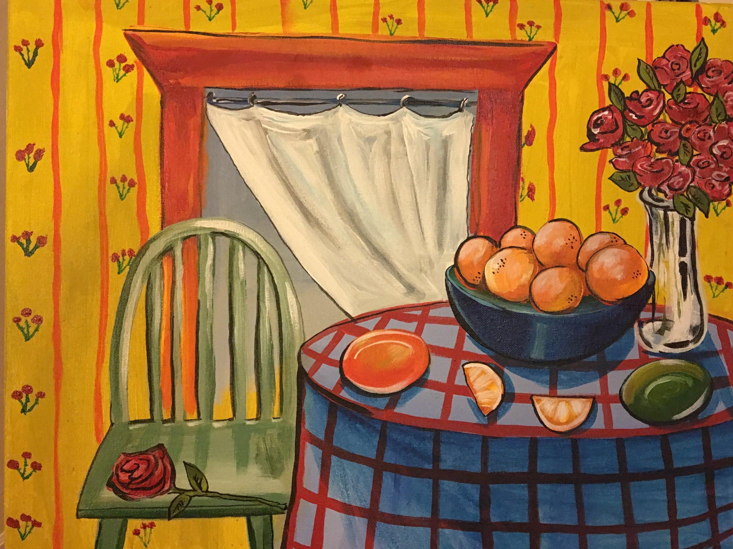 """""""Harvest""""  acrylic on canvas"""
