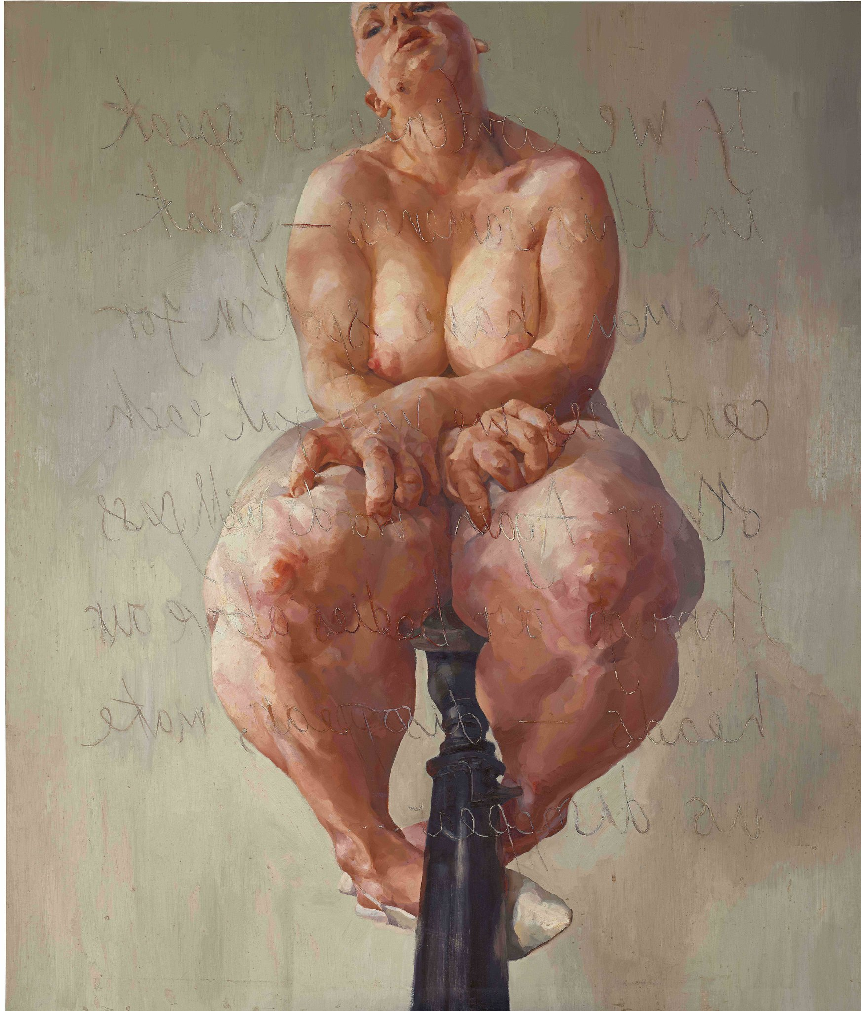 """""""Propped"""" by Jenny Saville  Image courtesy of Sotheby's"""