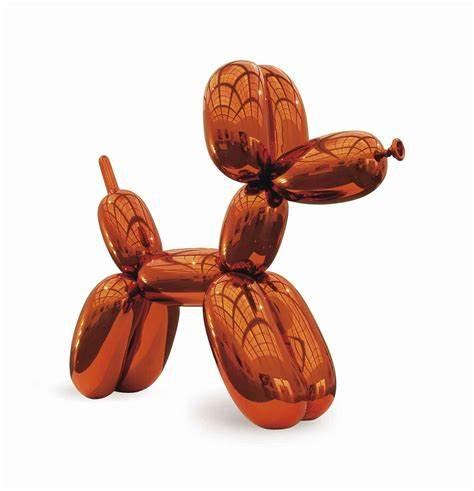 """""""Balloon Dog Orange"""" by Jeff Koons  Image courtesy of Sotheby's"""