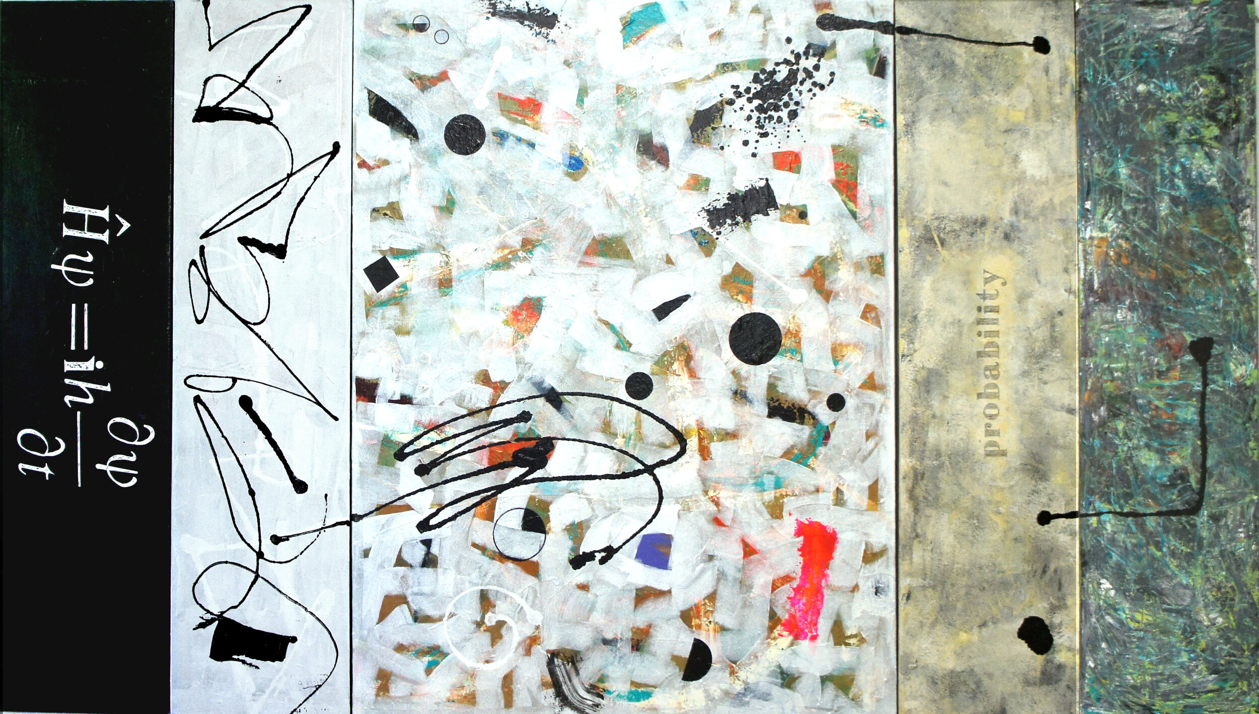 """Probability""  5 panel acrylic on canvas  48"" x 84"""