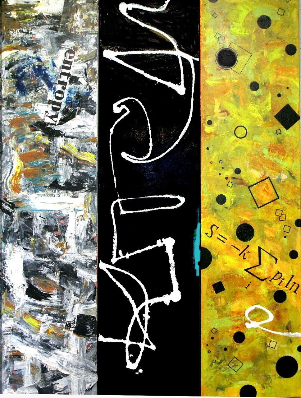 """Entropy""  60"" x 45""  acrylic on canvas"