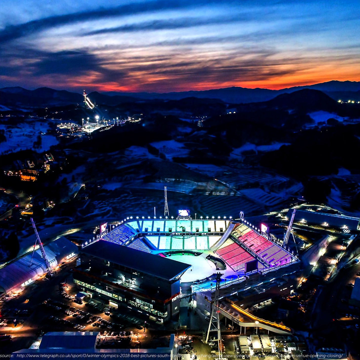 "https://www.telegraph.co.uk/sport/0/winter-olympics-2018-best-pictures-south-koreas-pyeongchang/aerial-view-pyeongchang-olympic-stadium-venue-opening-closing/ - As the 2018 Winter Olympics come to a close, the watching world will quickly retreat to more routine affairs both at home and abroad, and Pyeongchang will likely fade in our collective memory. However, as urban designers, perhaps now is precisely when we should start paying attention to what is happening there. The sustainability of purpose-built sporting facilities and their associated infrastructures after the Olympics have ended has been a major topic of debate for host countries trying to justify the immense expense of their initial construction. These Olympic facilities have historically been extremely vulnerable to underuse in a city's post-Olympic period. With their original functions vanished, many of these facilities remain today only as faded monuments to bygone glory.However, successful examples of post-Olympic integration of facilities can be found in cities like Barcelona, which hosted the Olympics in 1992. Barcelona's strategy was the first attempt to consider the Olympics as 'a catalyst for the redevelopment of its waterfront' and subsequently designed a series of public spaces including parks, fountains and public arts in order to give something more permanent for the Barcelona residents, as well as retain tourist interest after the ending of the Games. 4 years later, the Atlanta Olympics in 1996 transformed athletes' housing into dormitories for Georgia Tech University students, reflecting the Olympic event's role as an impetus for civic improvements of the city. However, unlike cities that had to construct new facilities from scratch, Paris and Los Angeles won bids for the 2024 and 2028 Games respectively by planning to use their extensive network of existing facilities. This myriad of examples show us the varying needs and approaches that face Olympic host cities with respect to scale and status.Learning from both the 1988 Summer Olympics in Seoul and the 2002 FIFA World Cup, the Korean government anticipated the burdens associated with hosting such major events, and therefore examined Pyeongchang critically. Since the city is located in a relatively remote area, the needs of its infrastructure needed to be resolved first in order to become a successful sustainable city beyond the Winter Games. Therefore, facilities other than major infrastructure or facilities with explicit future demands will be demolished. Furthermore, the Olympic Village will be transformed into condos, and the express train line will remain to increase Pyeongchang's proximity to Seoul. Distinct from many previous host countries, the Korean government intends to use the Olympics in Pyeongchang to catalyze infrastructure development between Seoul, the capital city, and Kangwon-do province located on the east side of Korea, which has historically not been considered a major development region.Venues that will only exist temporarily include the ""roofless"" Olympic Stadium, the Gangneung Hockey Center, the Olympic speed skating venue, and the downhill ski course in Jeongseon. In these cases, I'd like to ask what kind of architecture & aesthetics these 'temporal 'Olympic-related facilities should take the form of? Some articles say that the roofless Olympic Stadium embodies an extreme case of pop-up architecture in the contemporary context of the Olympic era. However, there are other more critical voices that claim that these facilities have not considered ""the disappearance of the project"" along with their physical characteristics. Certainly, it opens up new conversations regarding the ephemeral nature of architecture and its increasingly controversial role in event-oriented urban design & city-building."