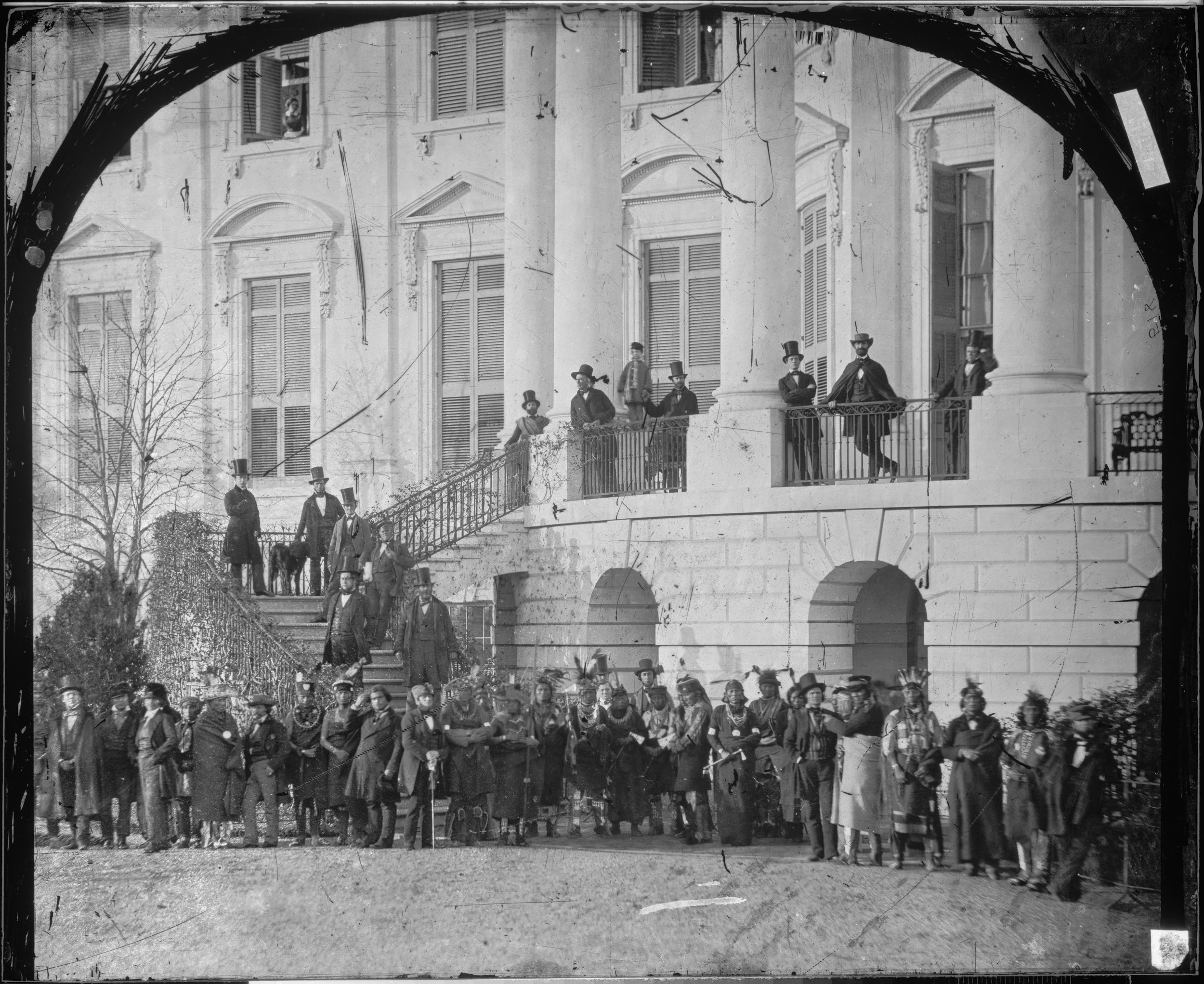 Tribal Delegation to the White House to negotiate land rights, 1860.  Image source: The National Archives, David M. Rubenstein Gallery, Records of Rights