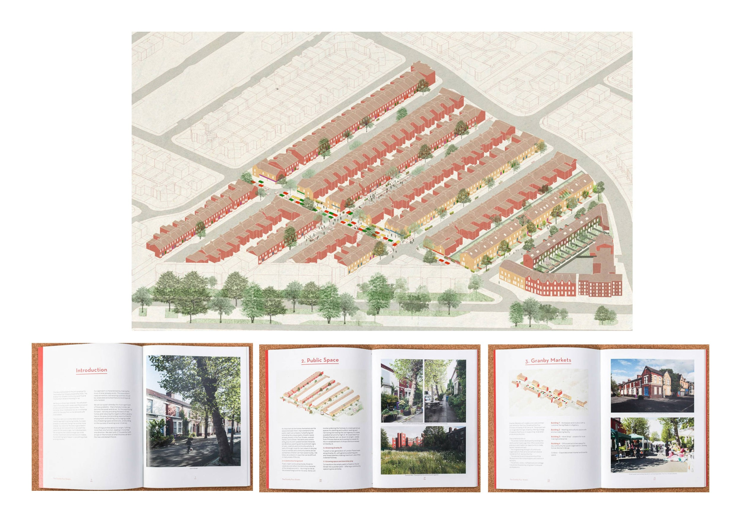 "- In the United States and globally, community land trusts (CLTs) are most often discussed as urban planning tools to expand and preserve perpetually affordable housing, but limited and shared equity land tenure models like those offered by CLTs also provide critical opportunities for innovative and community-responsive design interventions. These models interface with design at two key nexuses: they offer unique design opportunities to respond directly to community histories and needs, and they can be used together with the planning and implementation of large and small-scale urban design interventions.[1] It is imperative to more explicitly coordinate the practices of land tenure transformation and design to more fully recognize and realize design's potential as an agent of social change and to combat real estate speculation that is often catalyzed by the planning and implementation of public and private sector projects. Two case studies in the United States and the United Kingdom, respectively, provide insight into the design opportunities afforded by development on community-owned land, as well as the importance of considering land tenure in coordination with the development and implementation of urban planning and design projects in order to combat displacement and gentrification.Rondo Community Land Trust, St. Paul, Minnesota, United StatesOpportunities for designThroughout the 1960s, Rondo was St. Paul and Minneapolis' largest African American neighborhood, functioning as an active residential and commercial area and cultural locus for African Americans in the Twin Cities region. After the passage of the 1956 Federal Highway Act, the federal government routed what is now Interstate 94 through Rondo, displacing thousands of residents, destroying more than 600 homes, and bulldozing the neighborhood's central commercial strip of more than 300 small African-American owned businesses. After highway construction, Rondo's once-active commercial corridor, Selby Avenue, became characterized by empty storefronts due to discriminatory lending practices that barred business owners from capital and divestment that led to rising crime that encouraged business owners to relocate downtown.In Rondo, shared equity land tenure has contributed to the revitalization of Selby Avenue as a commercial corridor, providing opportunities for development that specifically responds to community history and needs. The Rondo Community Land Trust (RCLT) was established in 1993 to increase access to affordable home ownership by African American neighborhood residents who were historically denied capital under redlining policies. Today, RCLT is leading the nation's CLTs to expand development beyond single-family housing. Their Selby Mission Victoria (SMV) Project is a mixed-use affordable senior housing development with affordable spaces for small, minority-owned businesses and will open in 2019.[1] Through the SMV project, RCLT hopes to enhance its work catalyzing an ""African American Cultural Corridor"" in central Selby by ""retain[ing], stabiliz[ing], and promot[ing] small, local, and minority owned businesses.""[2] In the case of Rondo, community land ownership has led to design interventions that directly respond to locally-specific community histories: RCLT's commercial corridor development work incorporates affordable senior housing less viable in market-rate development, while also providing affordable commercial spaces in response the historic dispossession of majority African-American businesses owned and operated businesses in Rondo before urban renewal.Coordinating land tenure and design interventionsToday, 1960s highway construction continues to reverberate through contemporary debates about neighborhood development and equity in Rondo. Plans spearheaded by the Urban Land Institute (ULI) propose a land bridge over Interstate 94 that would convert part of the highway through Rondo into a public amenity. The land bridge is designed to respond to the mid-century urban renewal policies that routed Interstate 94 through Rondo. However, it poses risks similar to those of original highway construction in which large-scale investment in valuable public amenities may further gentrify Rondo without sufficient anti-speculation mechanisms like those provided by shared equity land tenure through RCLT.[3] While ULI has proposed the land bridge itself be owned and operated by RCLT, there has been little discussion of broader removal of land from the speculative market in Rondo and other historically affordable areas nearby at risk of speculation in response to the anticipated land bridge. Large design interventions like the land bridge should be considered in tandem with funding/financing for acquisition of properties to expand shared equity land tenure in and near the land bridge to ensure the efforts made to address historic injustices of displacement do not replicate the historic dispossession to which they respond.Granby 4 Streets, Liverpool, United KingdomOpportunities for designAs in the United States, planning and design practitioners in the United Kingdom were responsible for the violent dispossession brought on by urban renewal and redevelopment in the mid-20th century that displaced vibrant, low-income communities. In Liverpool, the CLT affordable housing model and coordinated design interventions were used to redevelop an area in which the city had previously divested in order to create opportunities for community development without displacement. Before the formation of the CLT, the Granby neighborhood was made up of vacant houses and deserted streets as a result of years of public divestment in the area.[4] Residents took matters into their own hands and used small scale design interventions and tactical urbanism[5] to prove the existence of a community, painting boarded up windows with murals of curtains and vases full of flowers, guerilla gardening streetscape improvements, and establishing a weekly market in the previously-vacant street.[6]Community-led activation of the public realm in the Granby 4 Streets area reflected the shared notions of spatialized-identity among local residents. Eleanor Lee, a Granby resident, describes these efforts, ""It completely turned the atmosphere around: now we had a pretty street that we could all be proud of.""[7] These actions combined with the collapse of government redevelopment plans post-recession led to the formation of the Granby 4 Streets Community Land Trust and the Liverpool City Council turning over the land and buildings to the CLT to redevelop.Today, the GCLT is lauded as a success - the renovation of ten homes won the coveted Turner Prize for co-operative design firm Assemble. Continued activation and beautification of Granby streets and city support has reignited housing association (private government-regulated non-profit organizations that maintain and finance social housing in the United Kingdom) interest in the neighborhood.[8] The GCLT is focused on expanding economic and social opportunities beyond housing with initiatives like job training and employment for young local residents by connecting them with construction contractors working in the neighborhood.[9] The street market continues to flourish as an economic and social space for local residents. Regeneration of the neighborhood is comprehensive and inclusive, one reporter writes, ""[the GCLT has made] Granby that rare thing in Britain: an area shaped in the image of its community.""[10] Federal social housing in the area will help ensure that neighborhood improvements by the GCLT will not catalyze gentrification in the neighborhood.The use and evolution of shared equity land tenure in Rondo and Liverpool reveal design opportunities afforded by CLTs in addition to the importance of coordinated land tenure and design interventions to achieve community development without risk of displacement and gentrification. Acknowledging historical injustices through design and embracing intentional and equitable design for all is our responsibility as practitioners. These two cases demonstrate how CLTs and design, together, can be used as a tool to create beautiful and necessary spaces for low-income communities that respond to local histories while remaining affordable and desirable for many years to come."