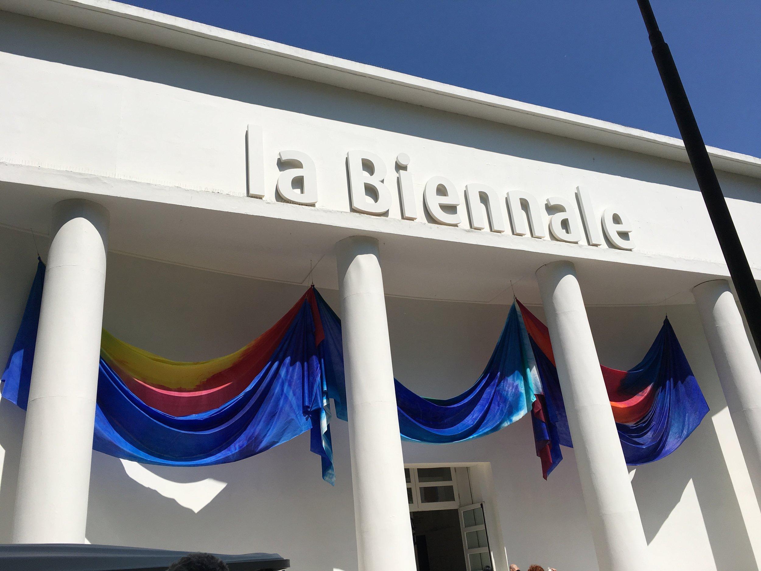 Venice Biennale, Italian Pavilion, Banner by Sam Gilliam, 2017