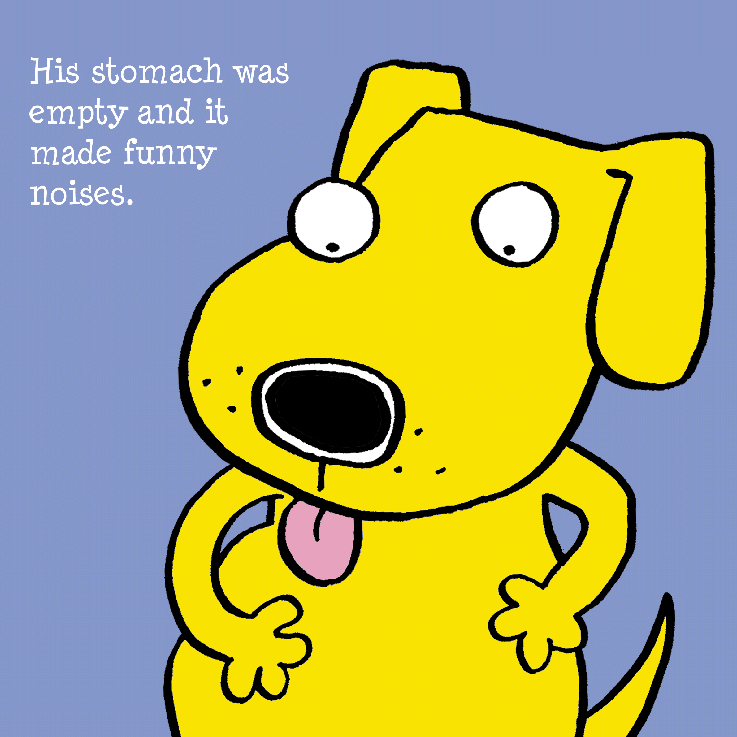 From the preschool book,  Hoover the Hungry Dog