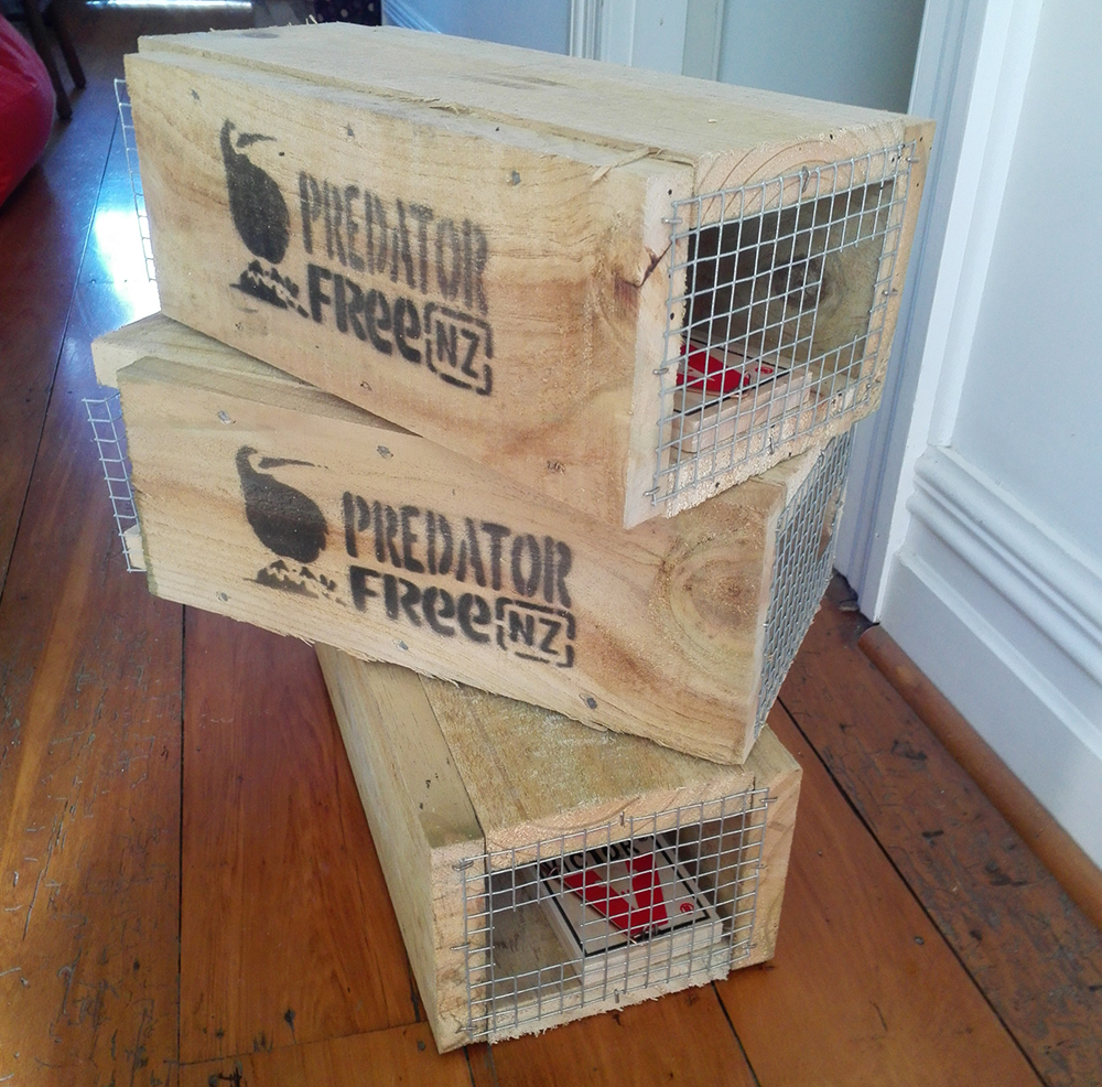 predator free New Zealand trap tunnels