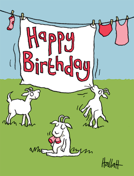 Happy Birthday Goats: Click to see options for using the image