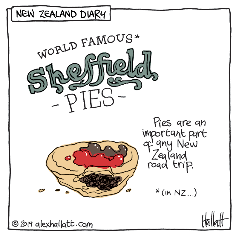 Pies are an important part of any New Zealand Road trip. Click to see options for using the image