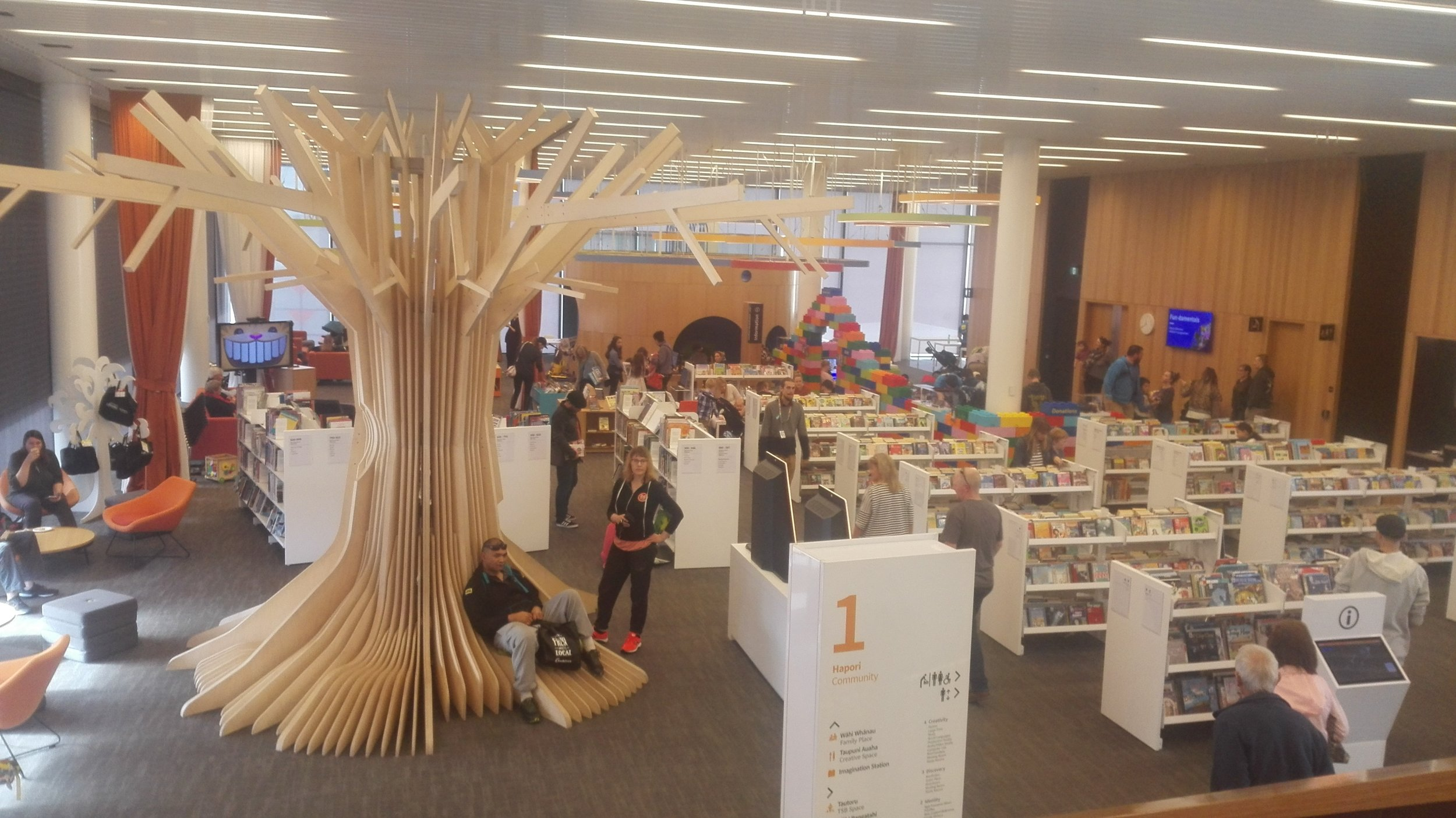 The children's area on the first floor of Tūranga library
