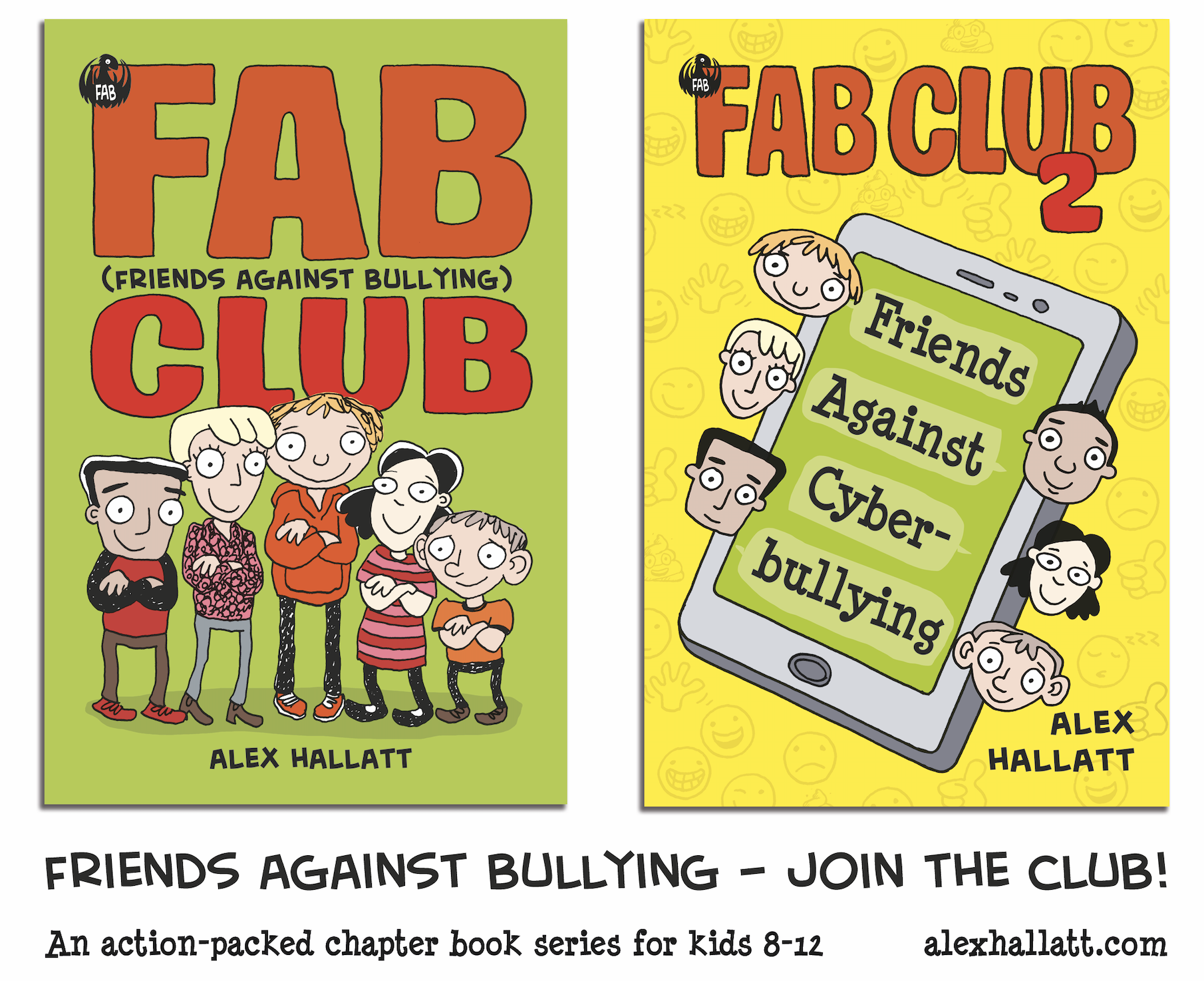 FAB Club books for kids - stand up to bullying and join the club
