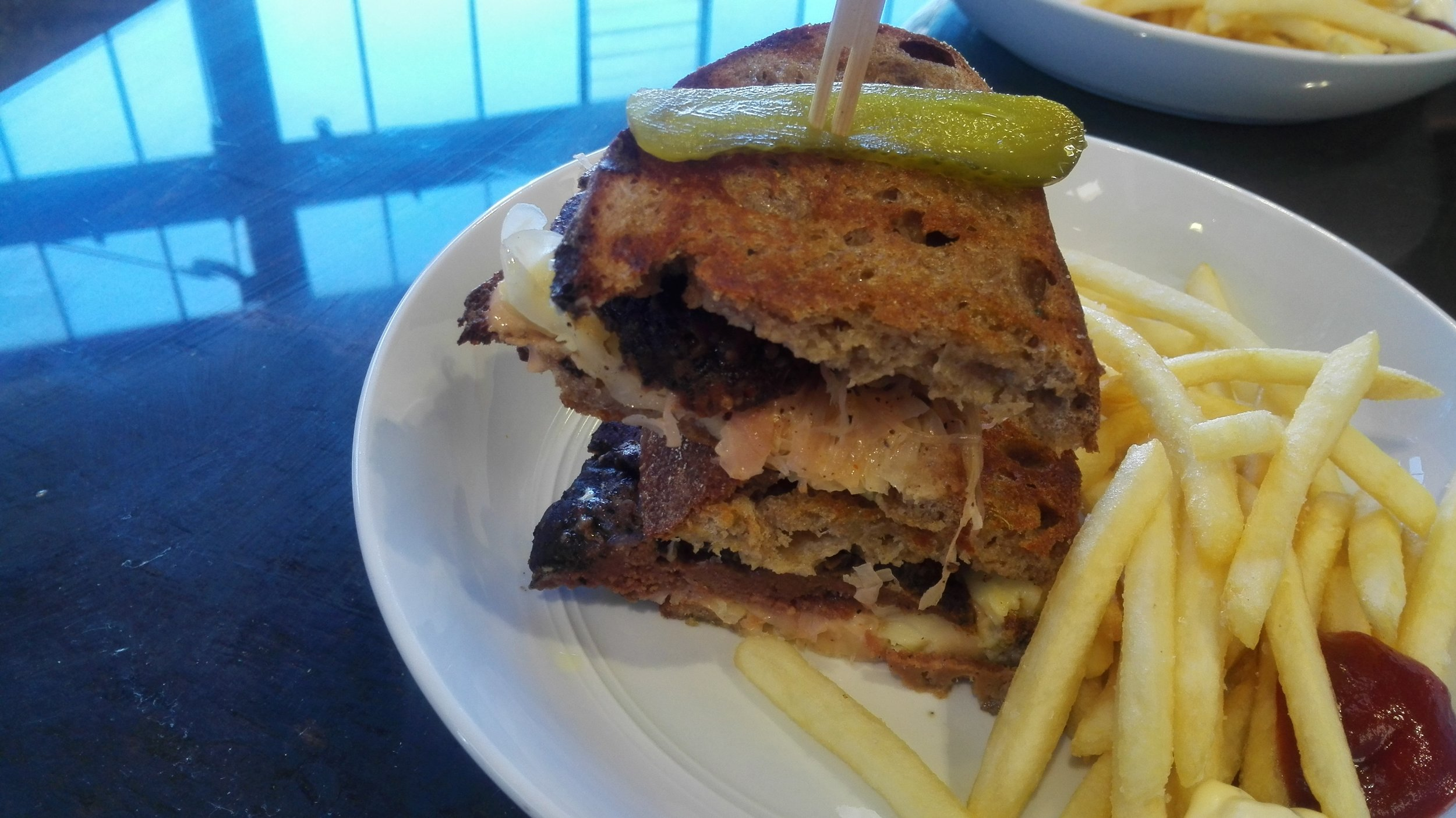 Reuben sandwich at Grater Goods