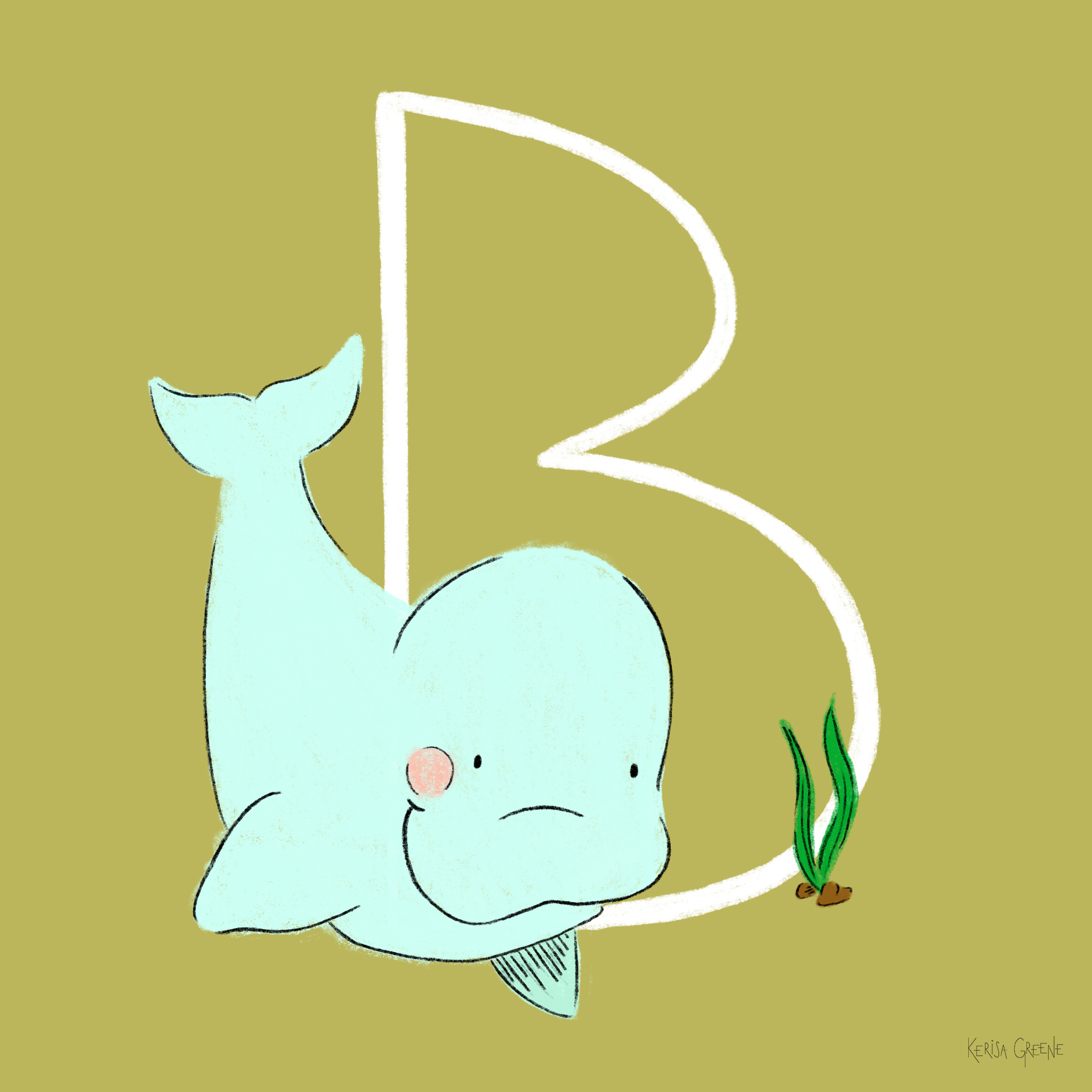 B is for Baluga Whale   These whales can swim backwards and hold their breath underwater for up to 15 minutes! ⠀