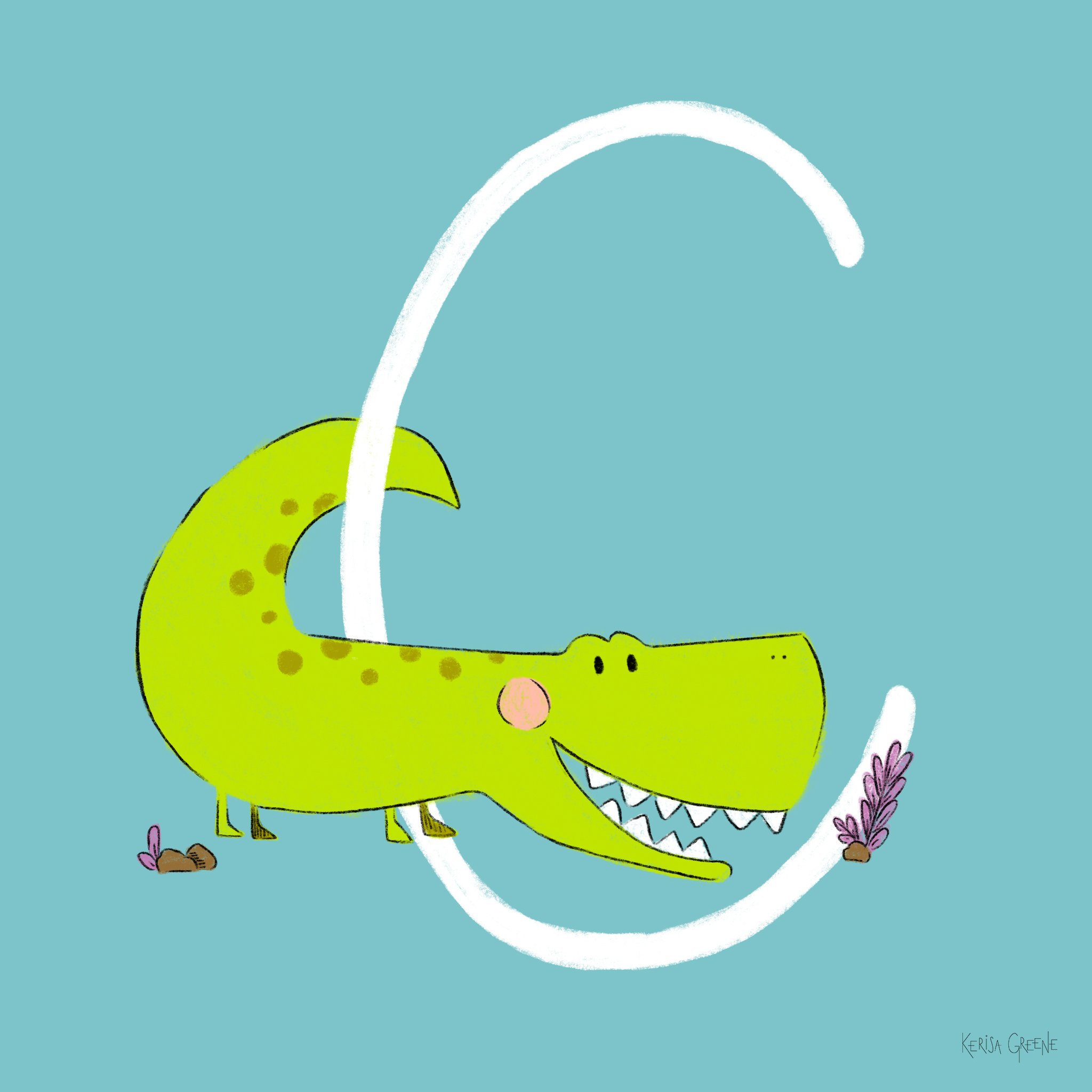 C is for Crocodile   Crocs are the largest reptiles on earth and really do produce tears!