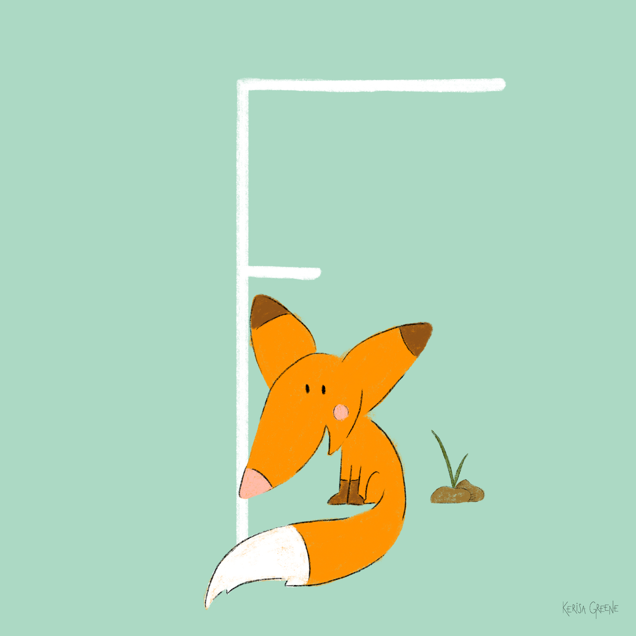 F is for Fox   A group of foxes is called a skulk or leash! Did you know that foxes have whiskers on their face and legs to help them navigate?